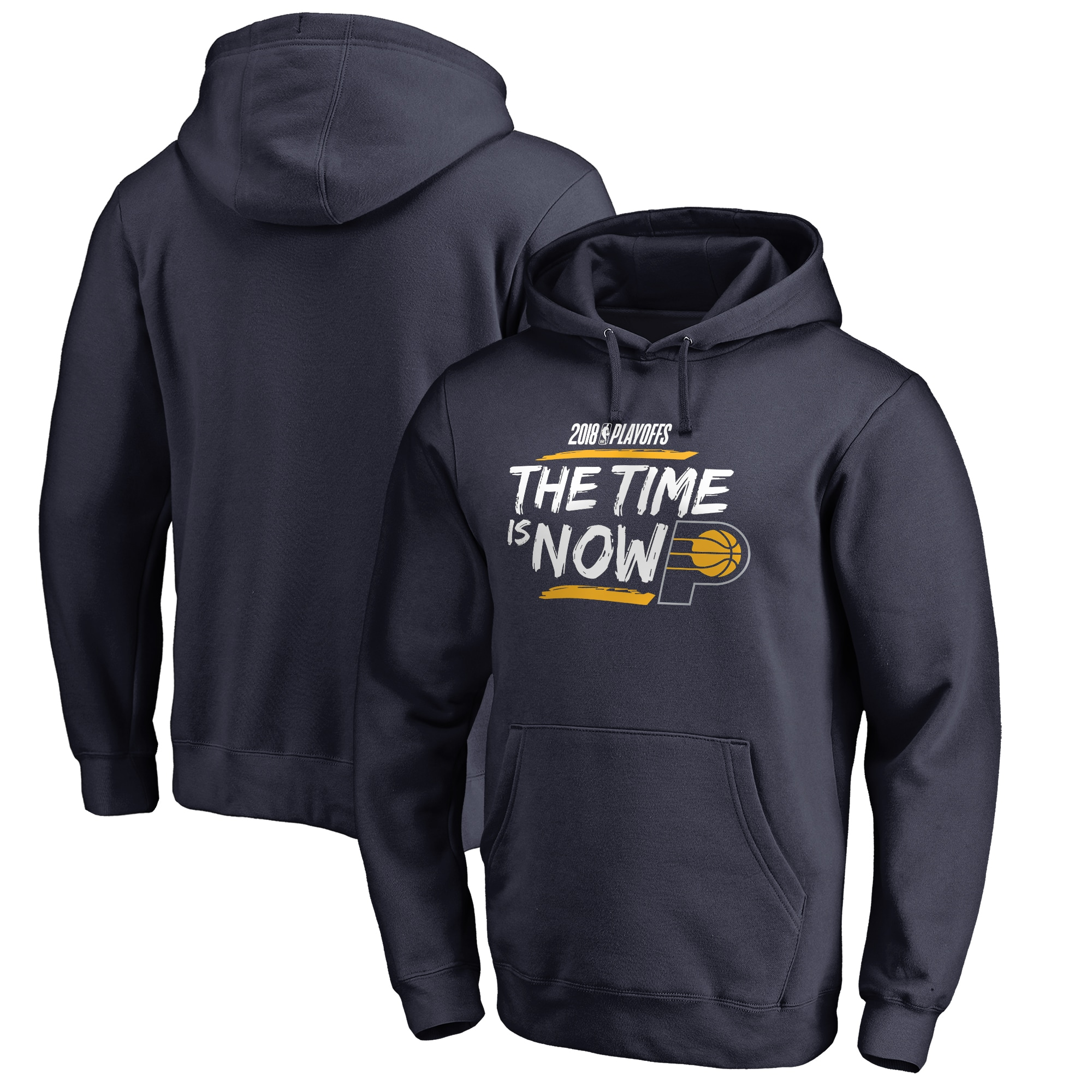 Indiana Pacers Fanatics Branded 2018 NBA Playoffs Bet Slogan Pullover Hoodie - Navy