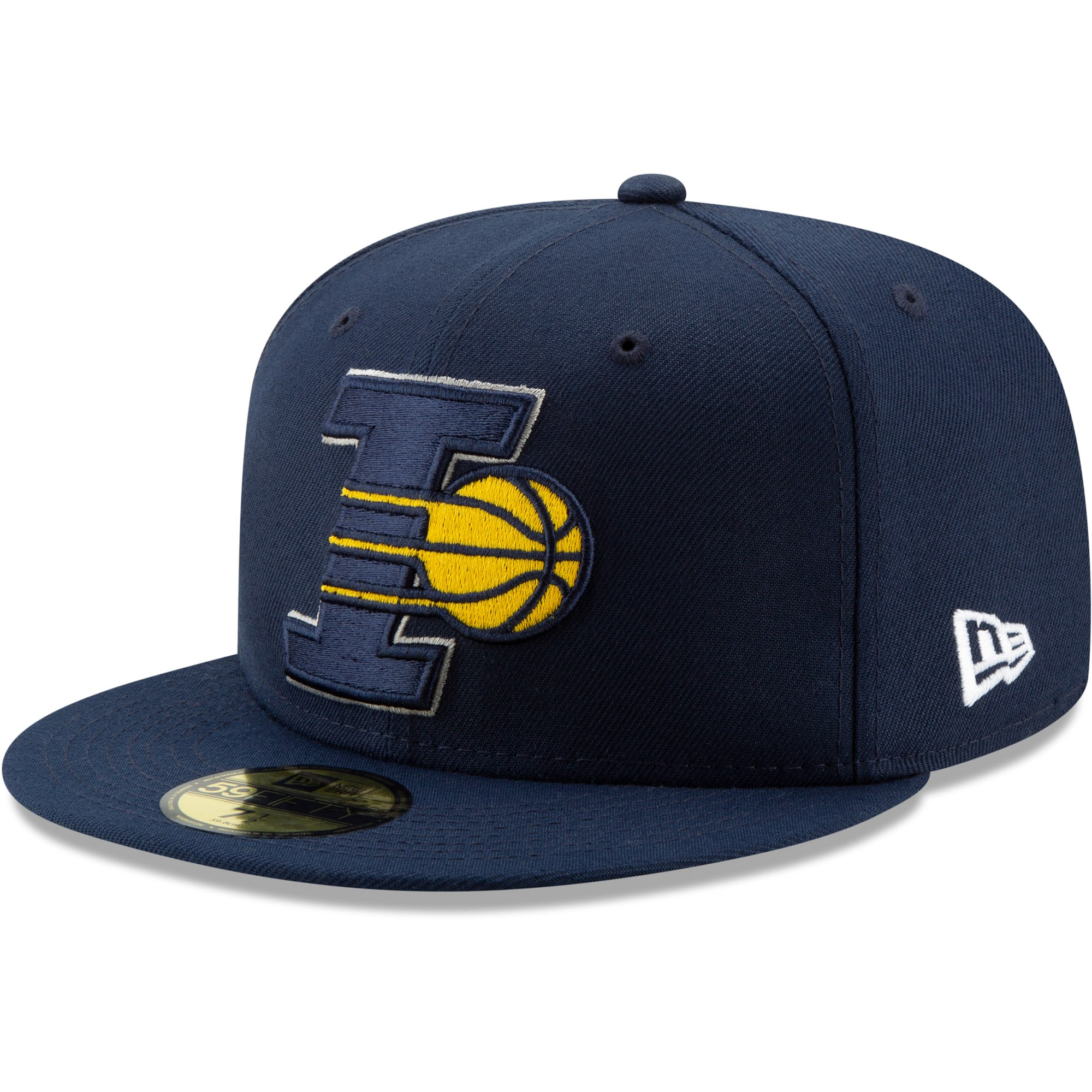 Indiana Pacers New Era Team Logo Back Half Series 59FIFTY Fitted Hat - Navy