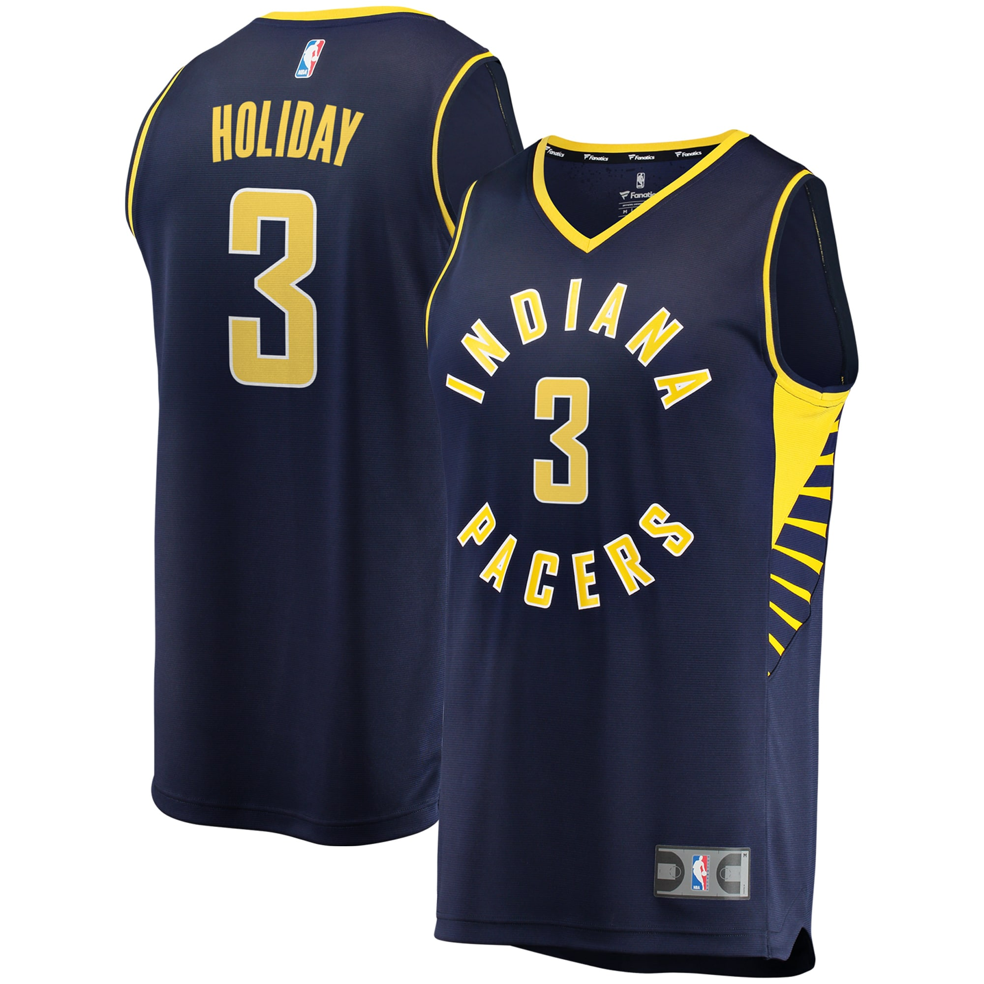 Aaron Holiday Indiana Pacers Fanatics Branded Fast Break Replica Jersey - Icon Edition - Navy