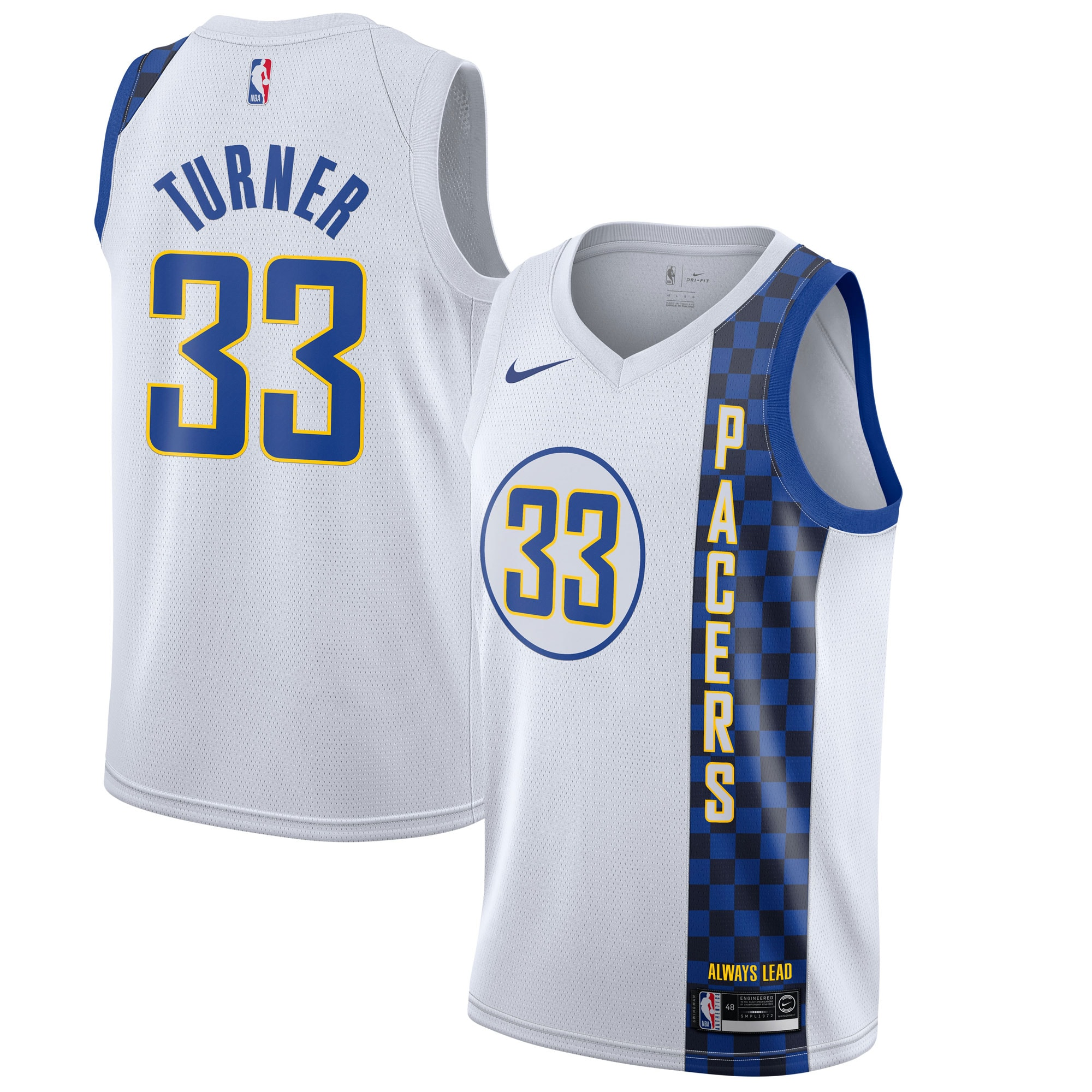 Myles Turner Indiana Pacers Nike 2019/20 Finished Swingman Jersey White - City Edition