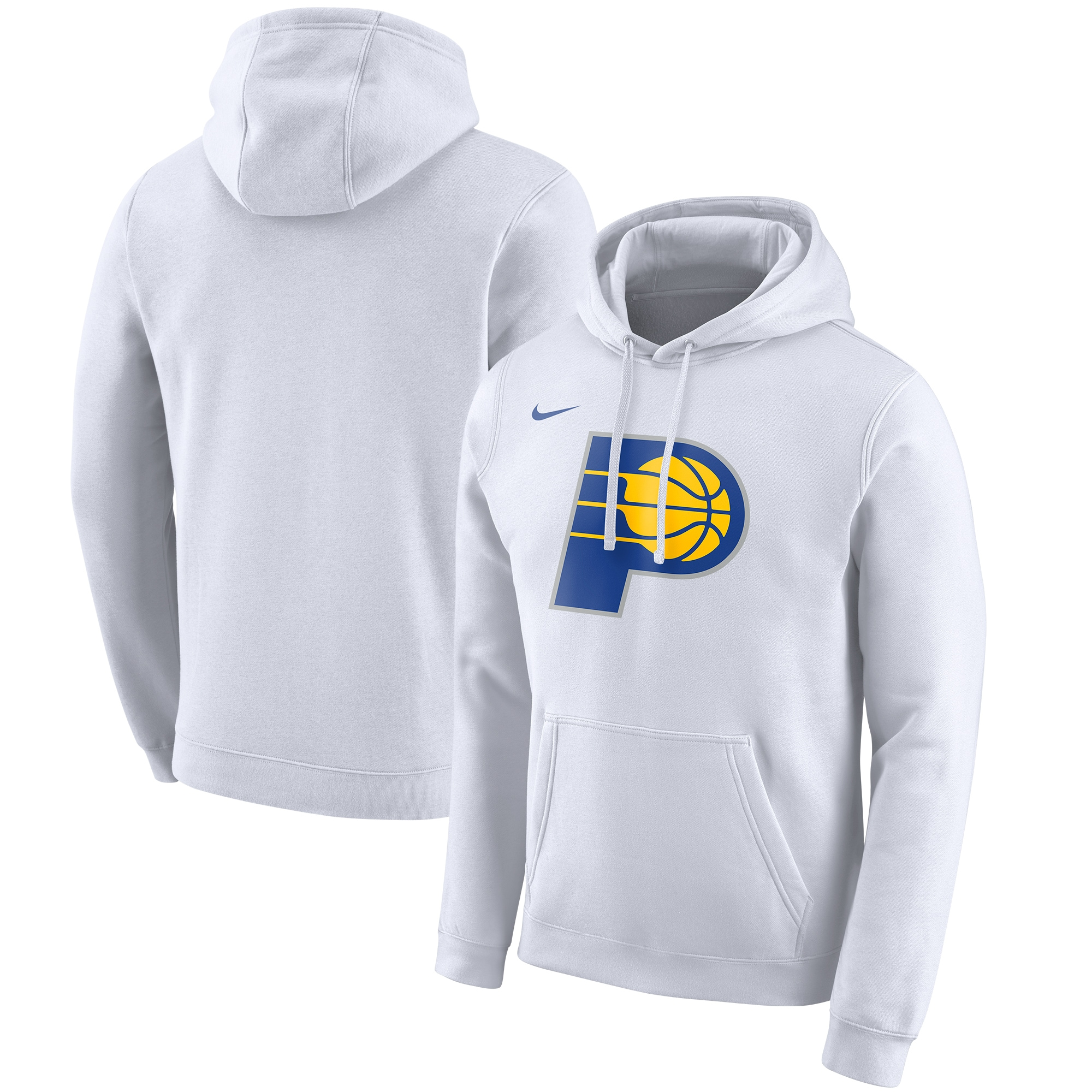 Indiana Pacers Nike 2019/20 City Edition Club Pullover Hoodie - White