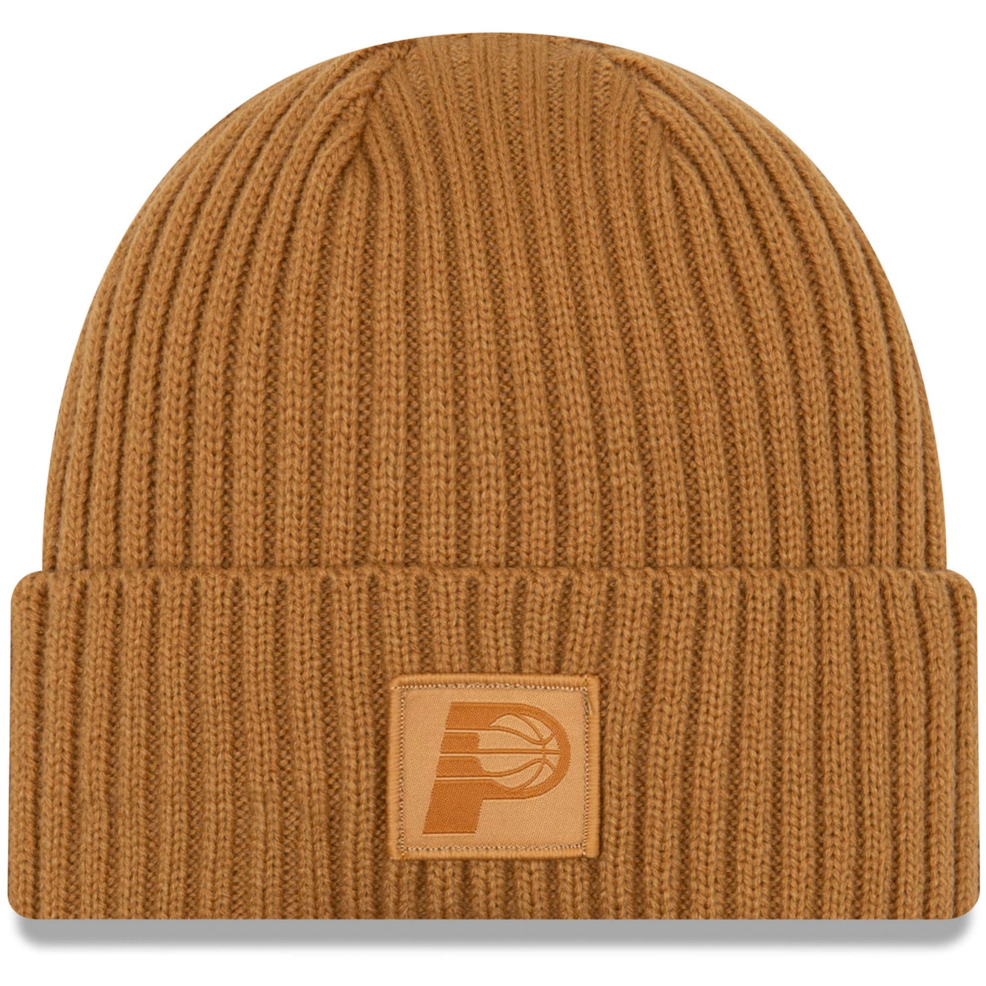 Indiana Pacers New Era Label Cuffed Knit Hat - Tan