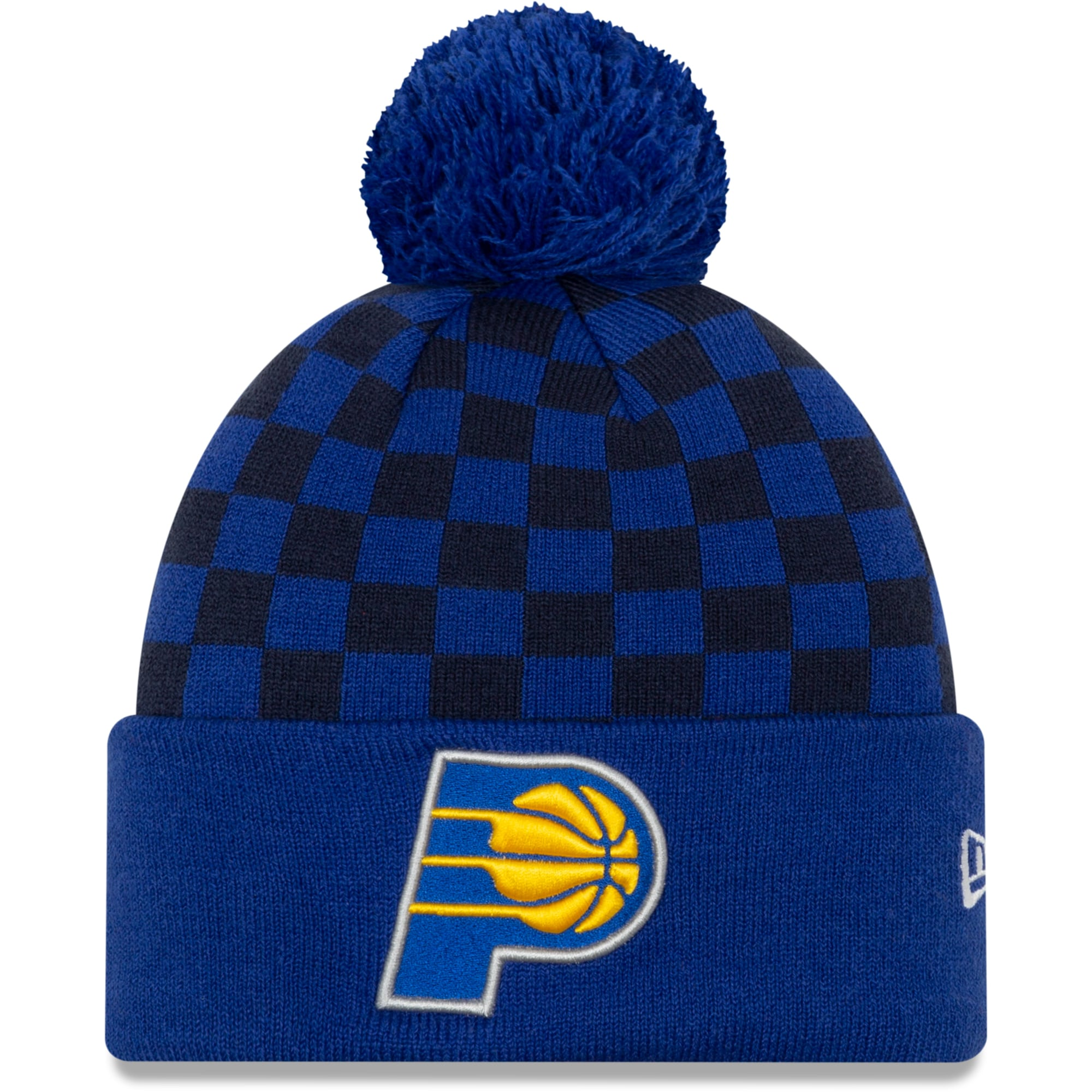 Indiana Pacers New Era 2019/20 City Edition Pom Knit Hat - Blue