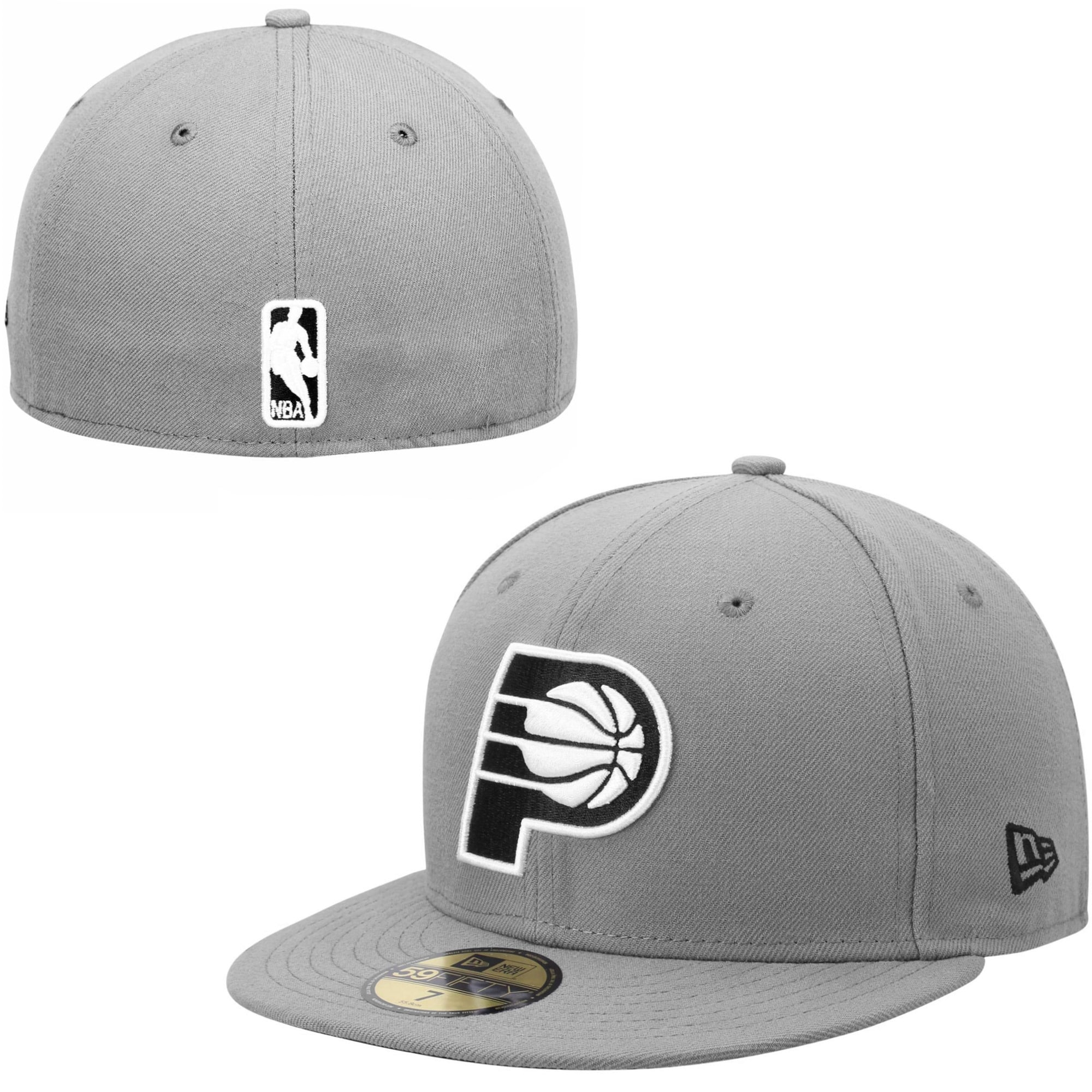 Indiana Pacers New Era 59FIFTY Fitted Hat - Gray/Black