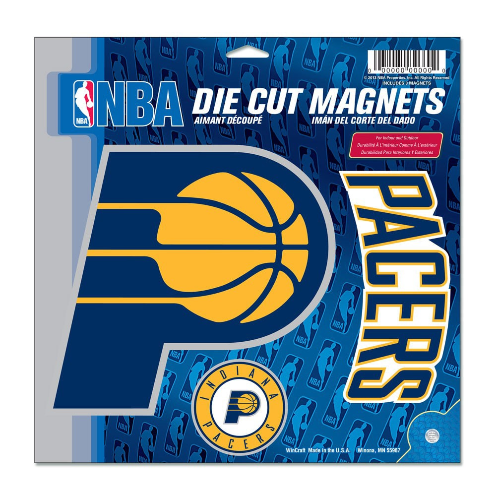 "Indiana Pacers WinCraft 11"" x 11"" 3-Pack Vinyl Magnet Set"