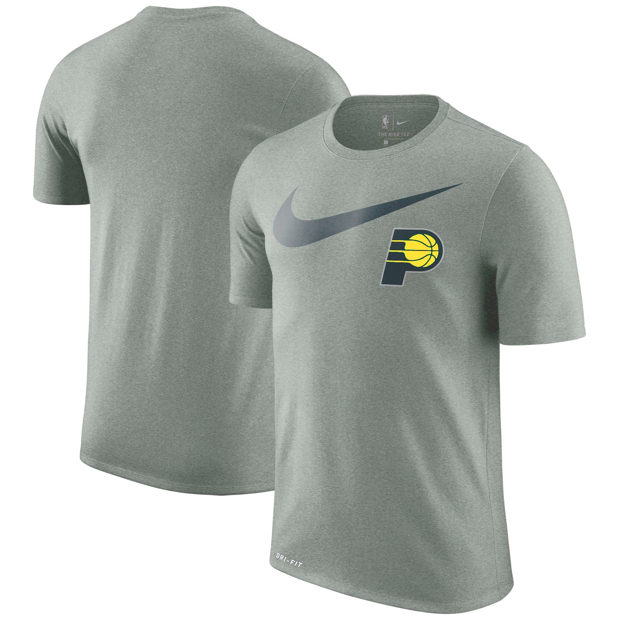 Indiana Pacers Nike Essential Swoosh Logo Legend T-Shirt - Heathered Charcoal
