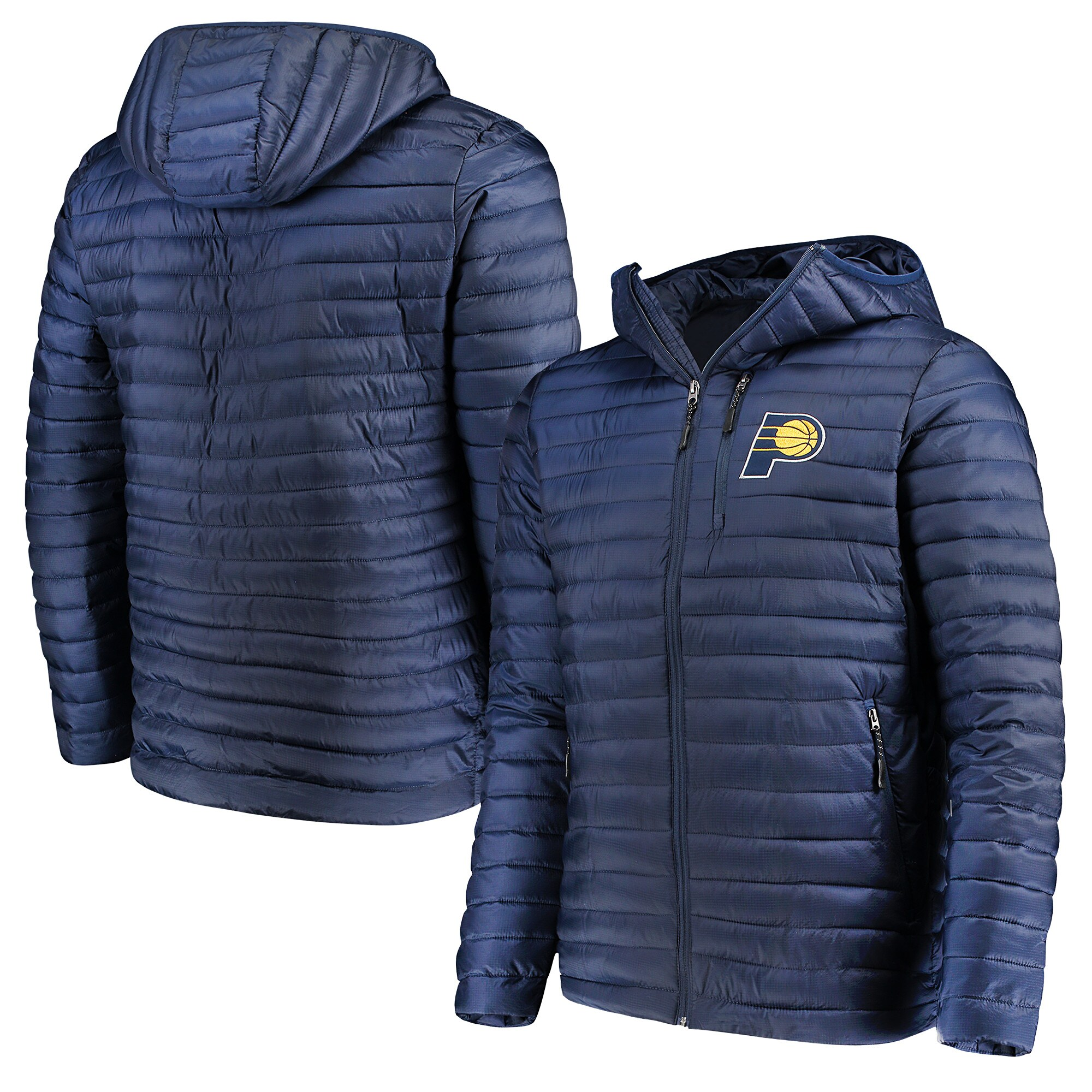 Indiana Pacers G-III Sports by Carl Banks Equator Quilted Performance Full Zip Jacket - Navy