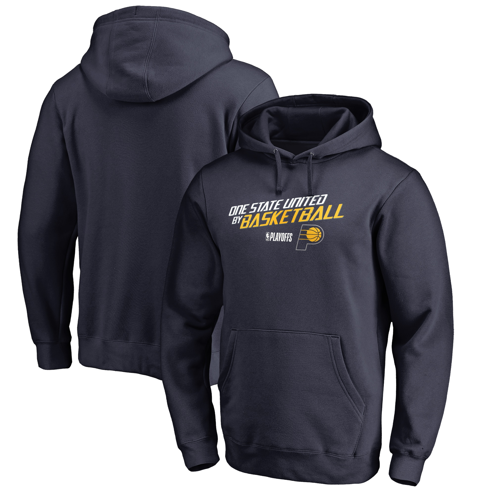 Indiana Pacers Fanatics Branded 2018 NBA Playoffs Slogan Pullover Hoodie - Navy