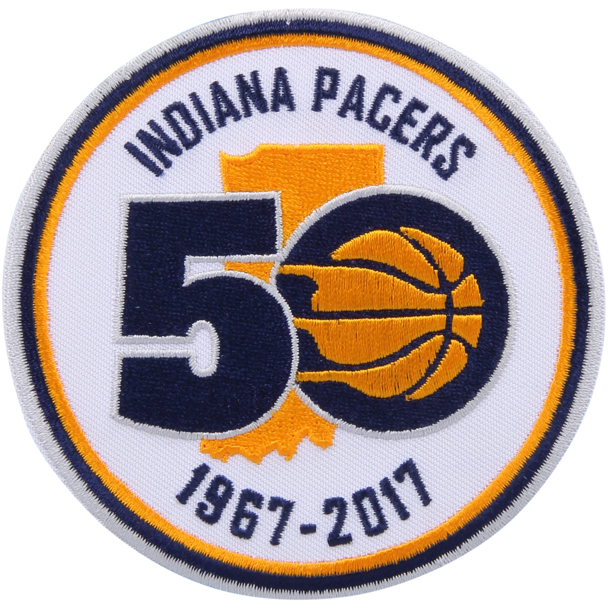 Indiana Pacers 50th Anniversary Commemorative Patch