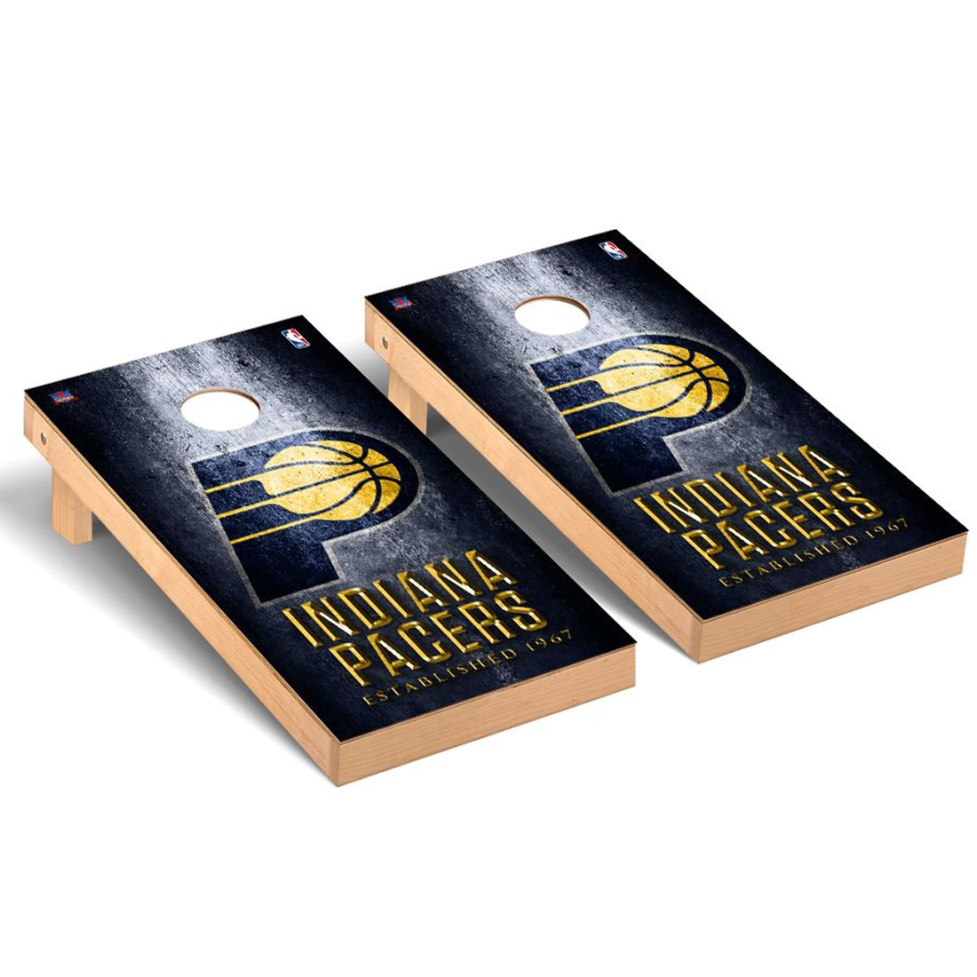 Indiana Pacers 2' x 4' Metal Museum Cornhole Board Tailgate Toss Set