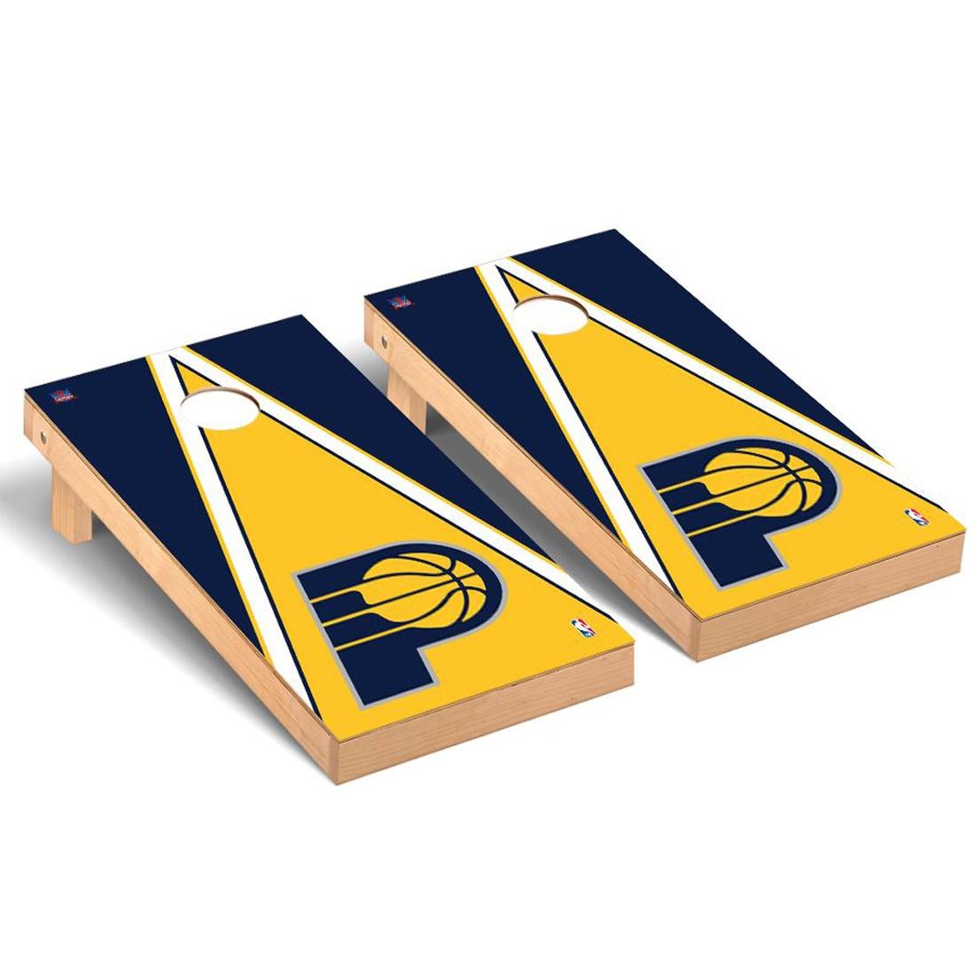 Indiana Pacers 2' x 4' Triangle Museum Cornhole Board Tailgate Toss Set