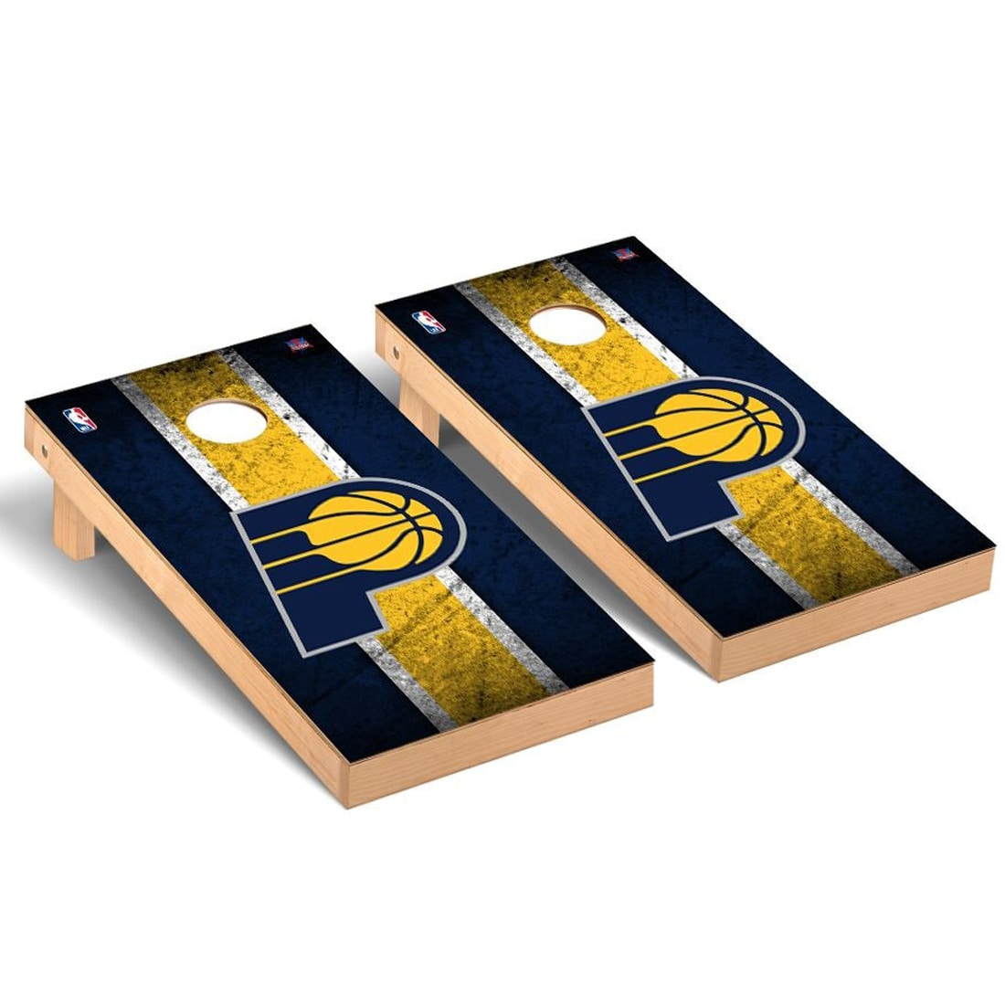 Indiana Pacers 2' x 4' Vintage Museum Cornhole Board Tailgate Toss Set