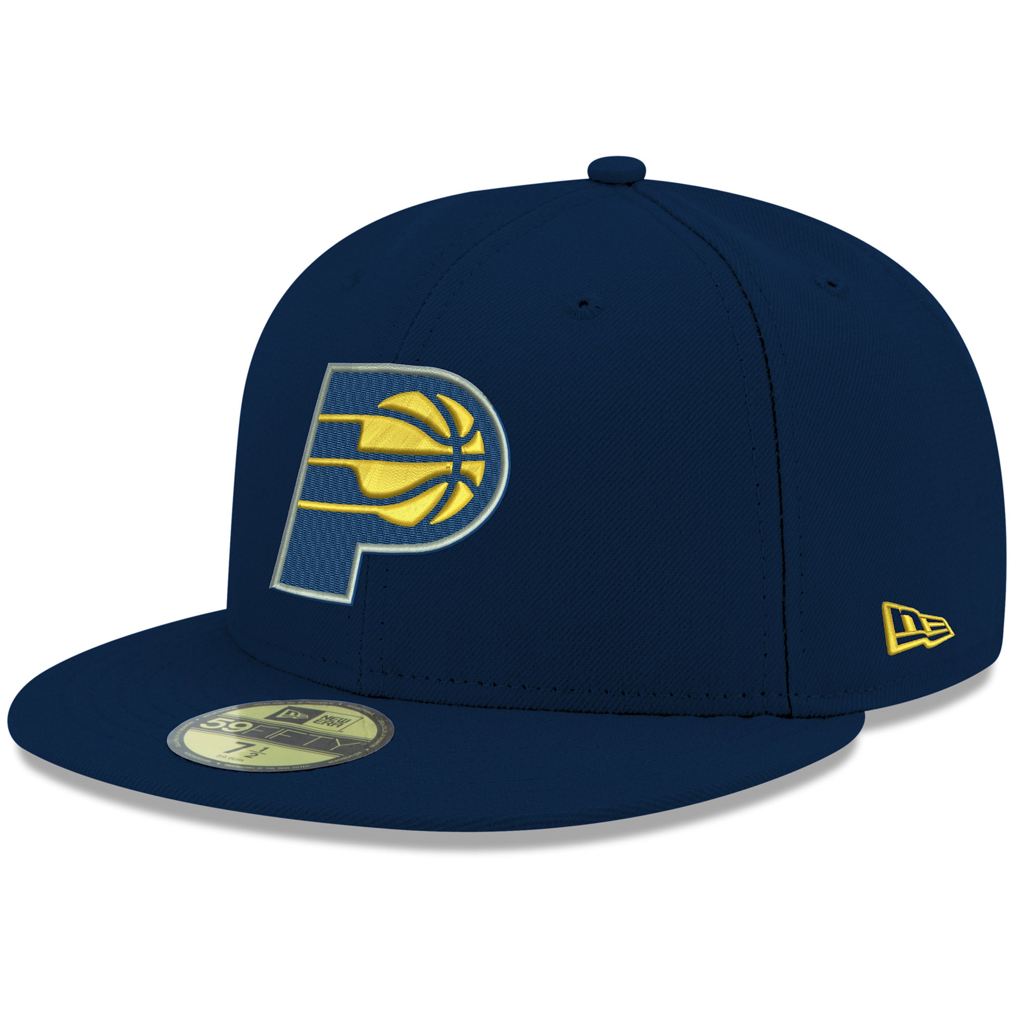 Indiana Pacers New Era Official Team Color 59FIFTY Fitted Hat - Navy