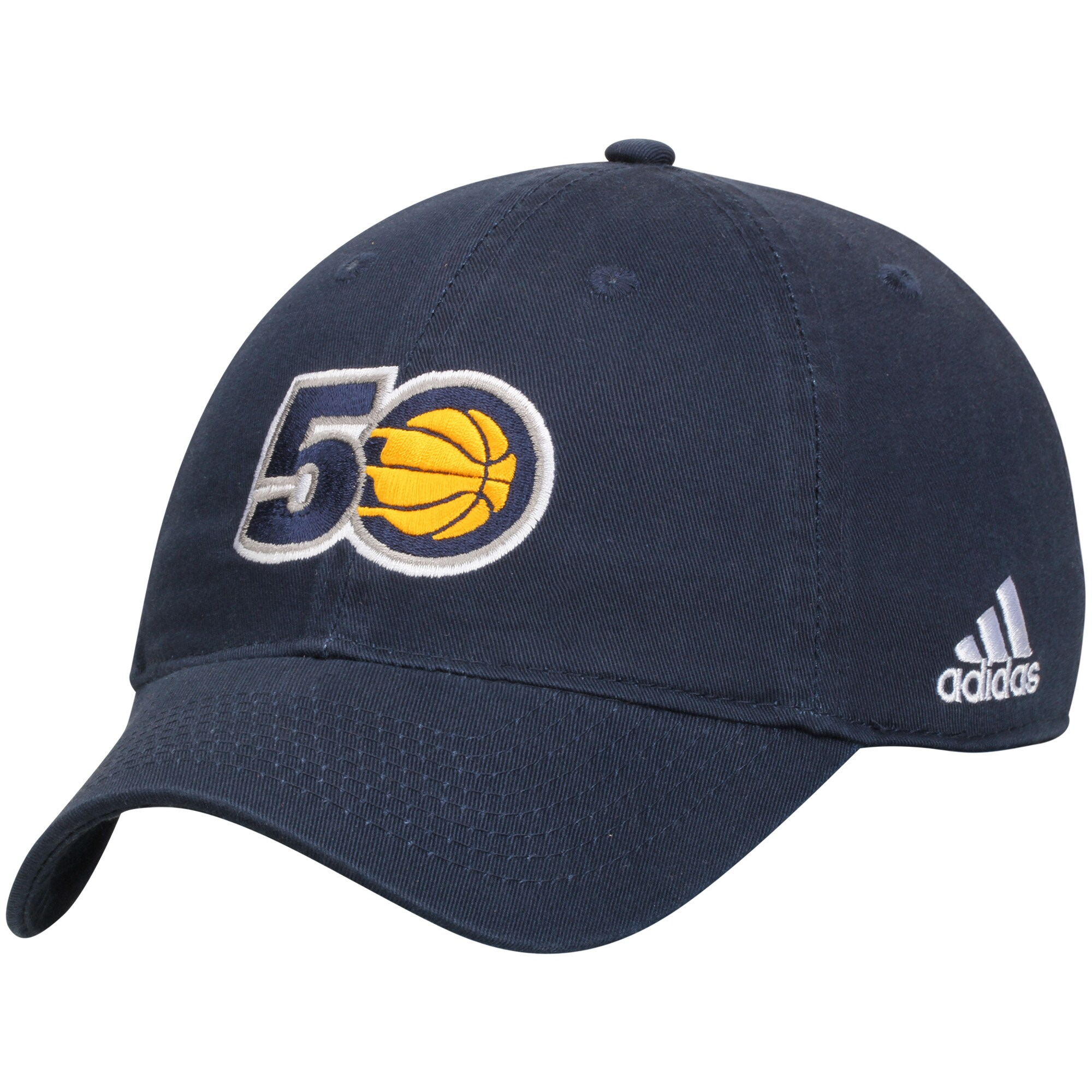 Indiana Pacers adidas Anniversary Adjustable Hat - Navy