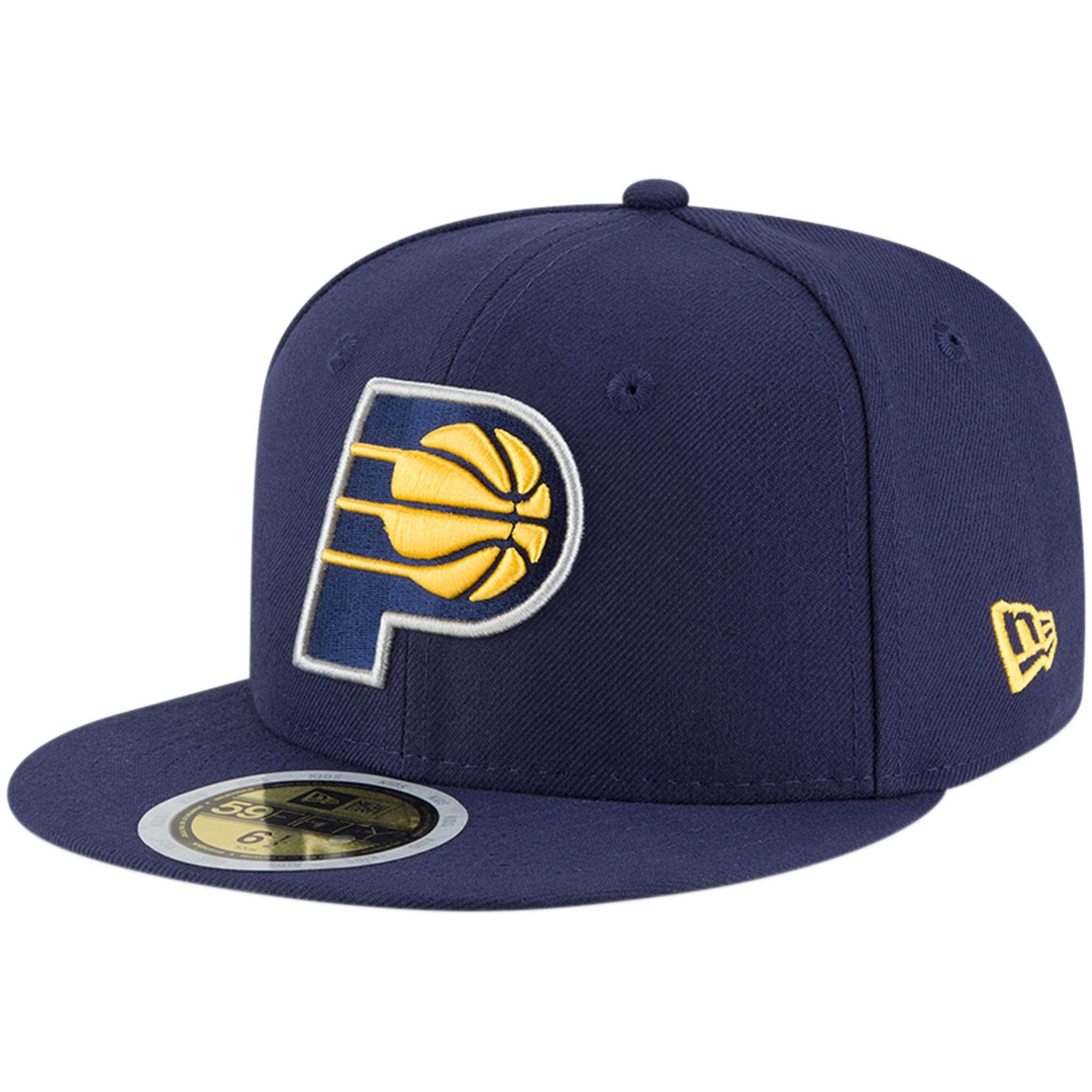 Indiana Pacers New Era Youth Official Team Color 59FIFTY Fitted Hat - Navy