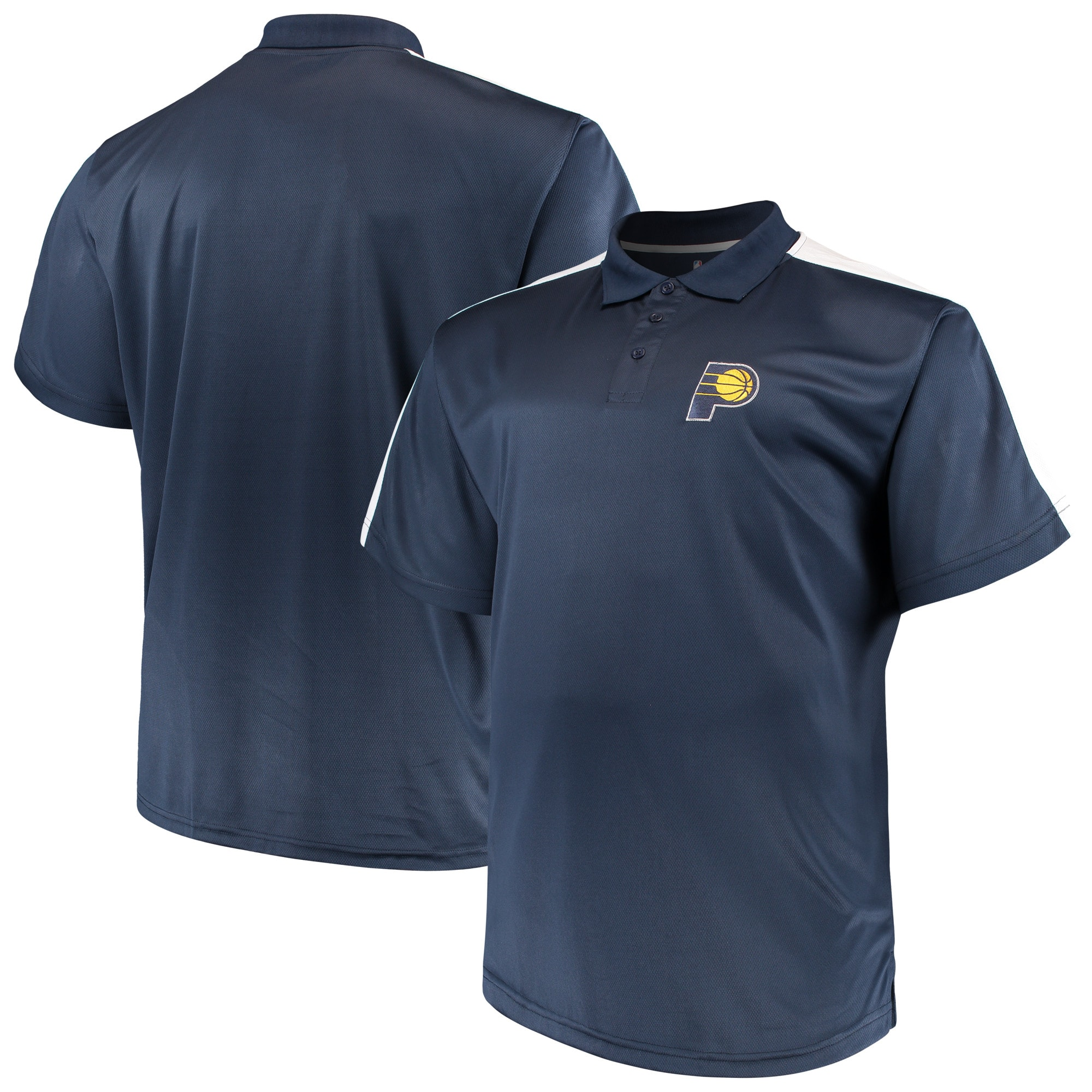 Indiana Pacers Majestic Big & Tall Birdseye Polo - Navy/White