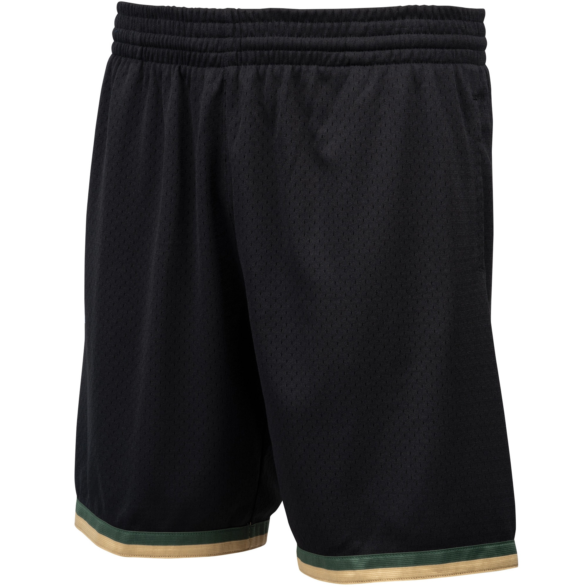 Houston Rockets Mitchell & Ness Hardwood Classics Straight Fire Camo Swingman Shorts - Black