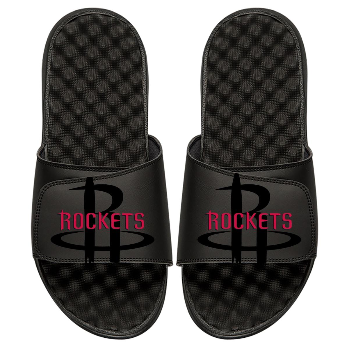 Houston Rockets ISlide Tonal Pop Slide Sandals - Black