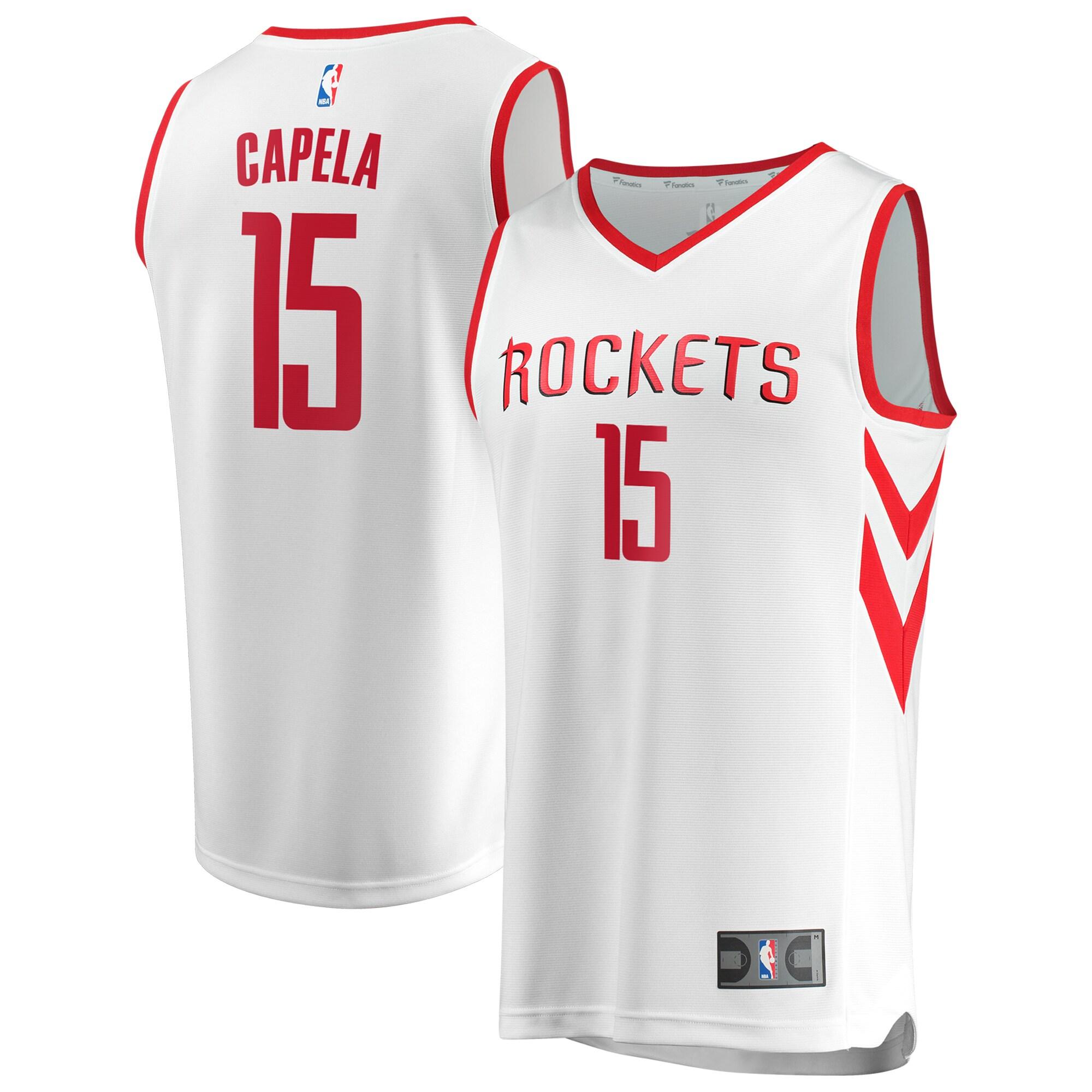 Clint Capela Houston Rockets Fanatics Branded Fast Break Replica Jersey - Association Edition - White