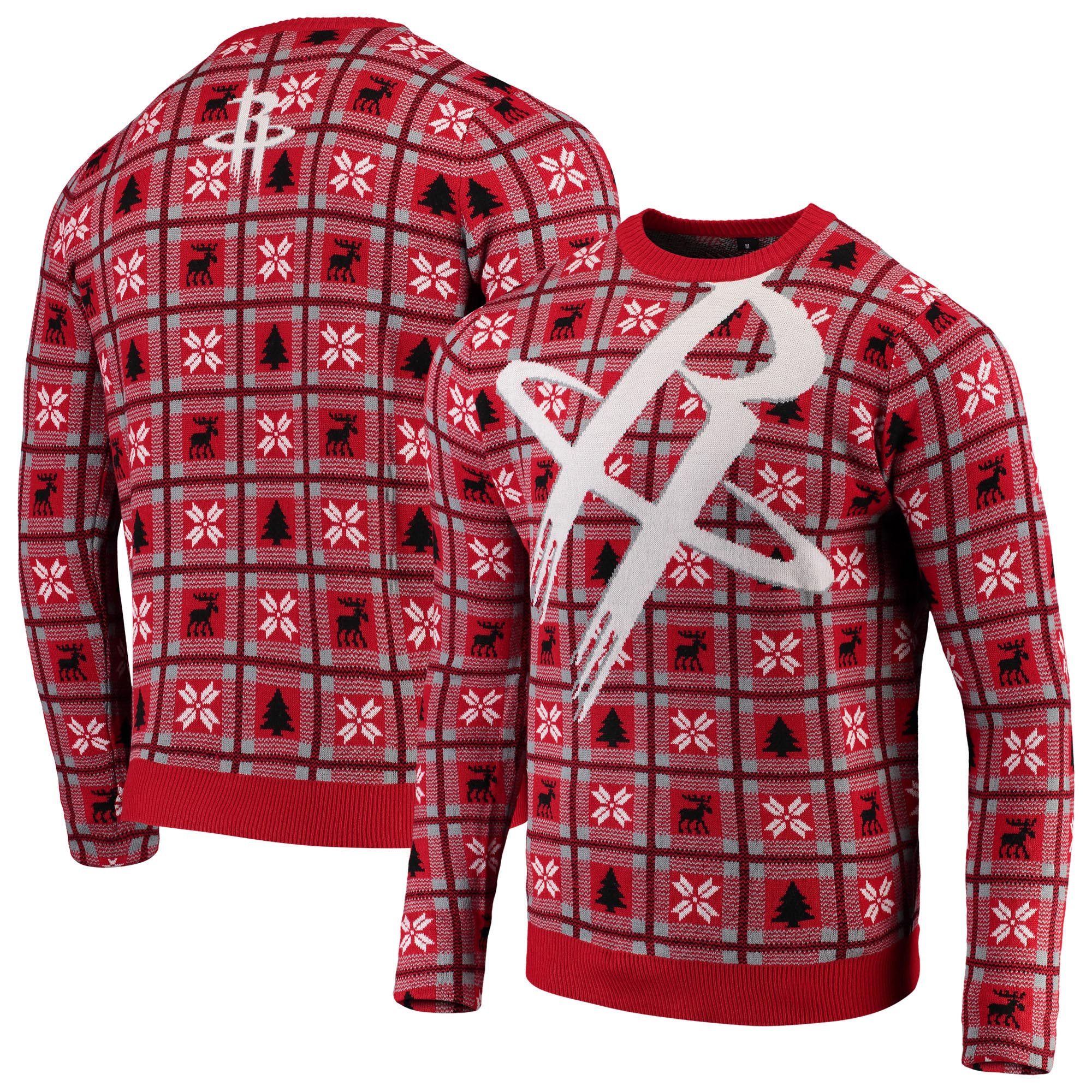 Houston Rockets Big Logo Ugly Sweater - Red