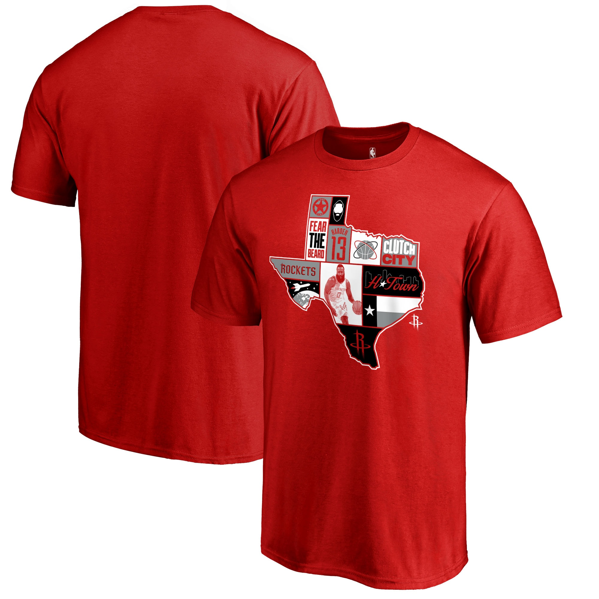 James Harden Houston Rockets Fanatics Branded Player State T-Shirt - Red