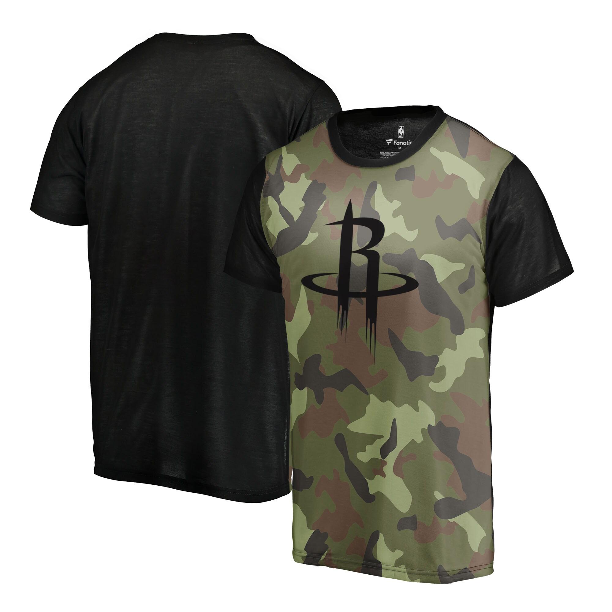 Houston Rockets Fanatics Branded Camo Collection Blast Sublimated T-Shirt - Camo