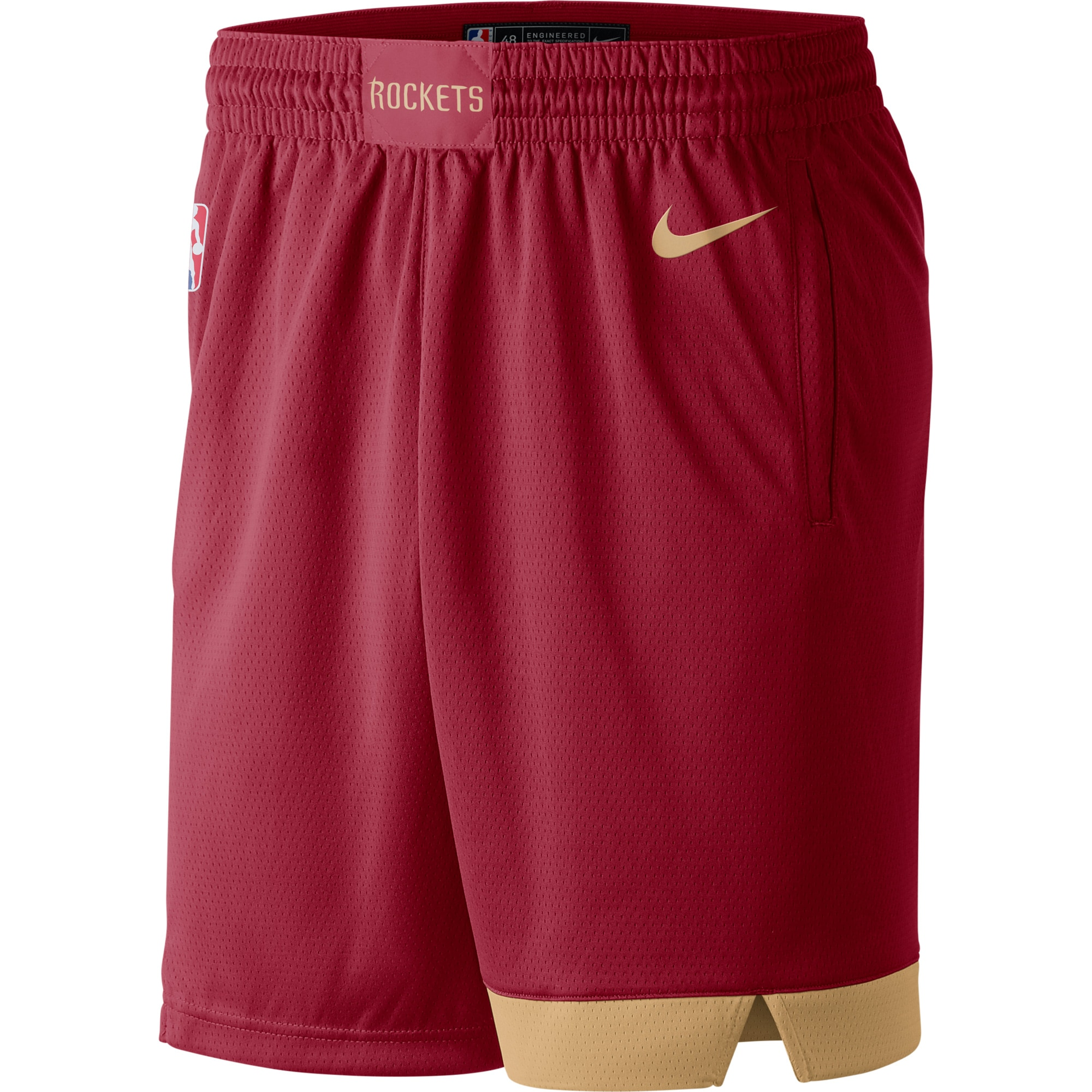 Houston Rockets Nike City Edition Swingman Performance Shorts - Red