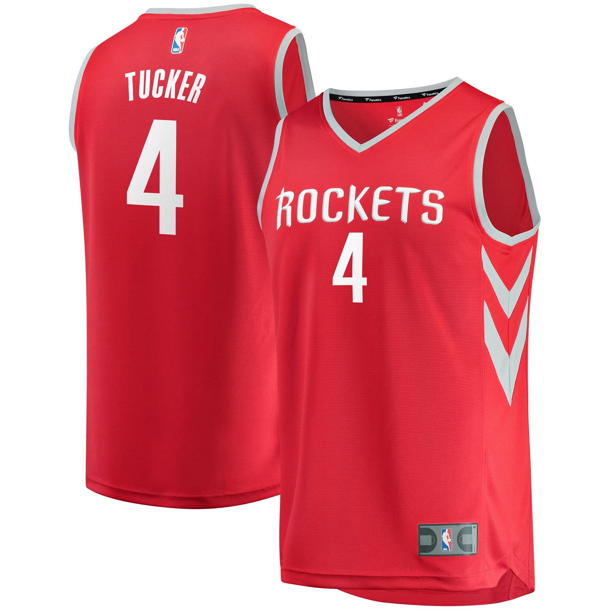 PJ Tucker Houston Rockets Fanatics Branded Youth Fast Break Player Jersey - Icon Edition - Red