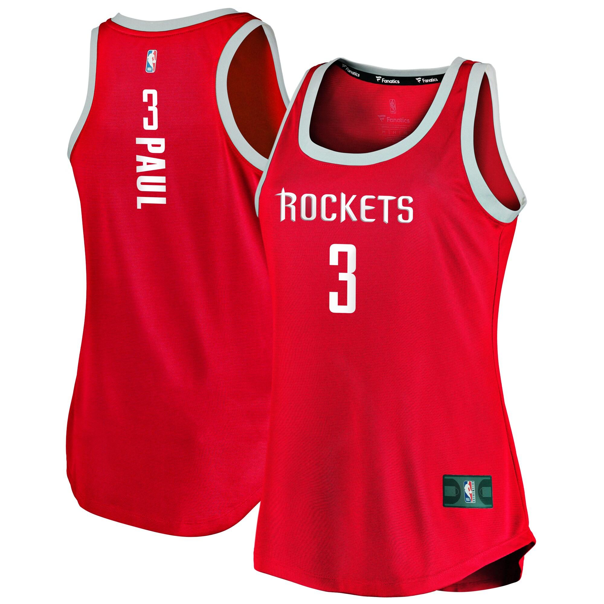 Chris Paul Houston Rockets Fanatics Branded Women's Fast Break Tank Jersey - Icon Edition - Red