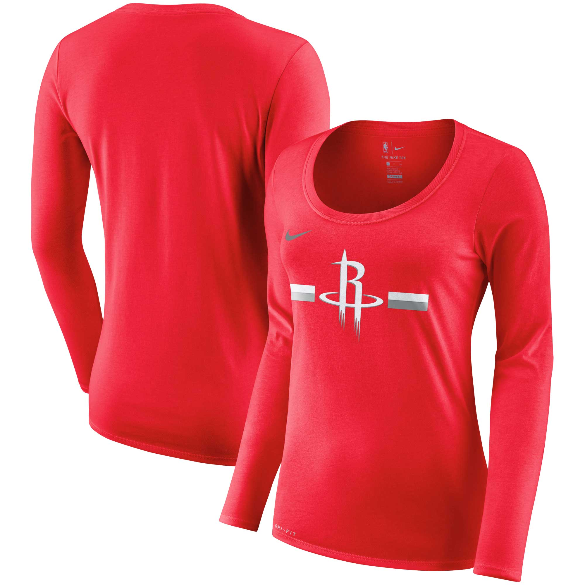 Houston Rockets Nike Women's Essential Logo Performance Long Sleeve T-Shirt - Red