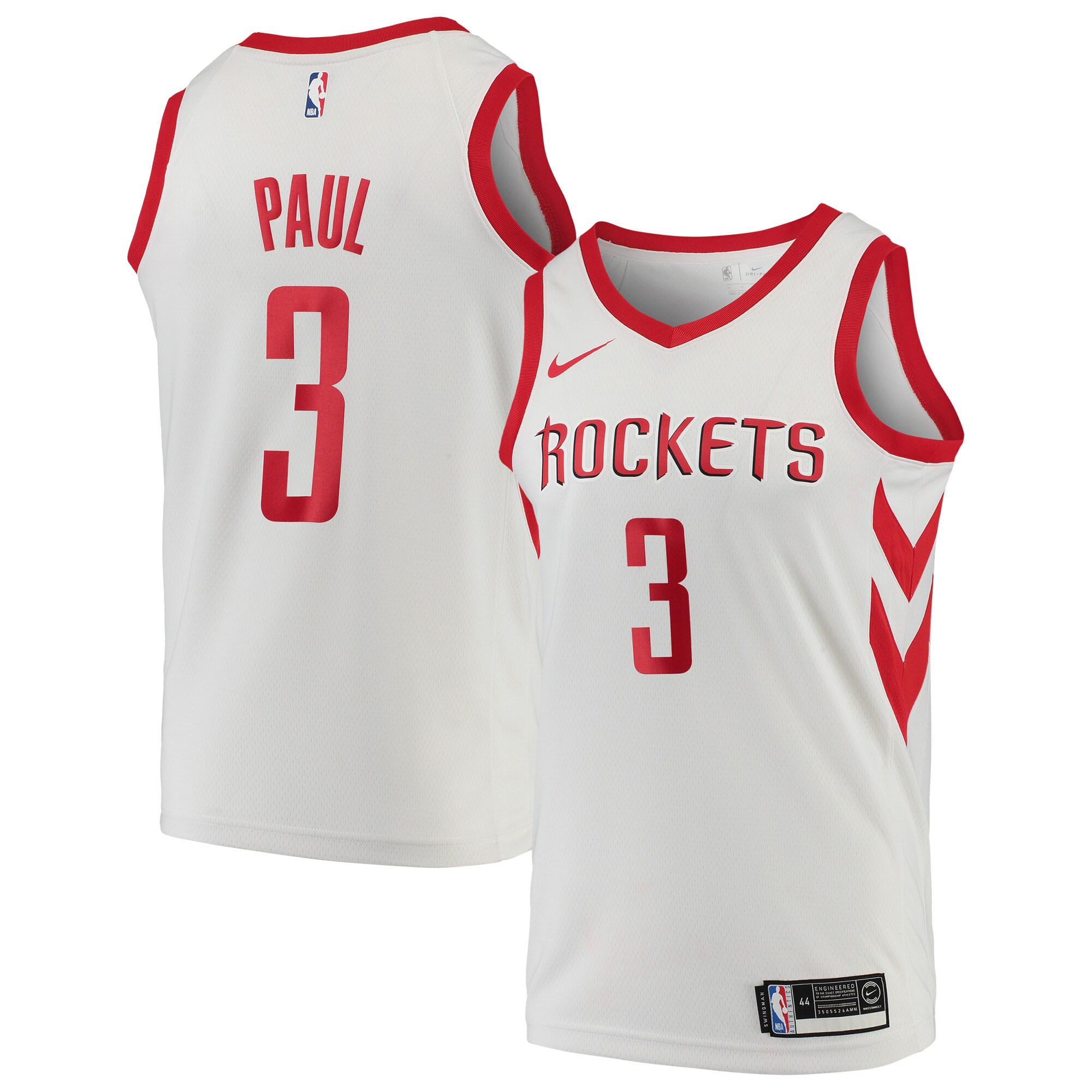 Chris Paul Houston Rockets Nike Replica Swingman Jersey - Association Edition - White