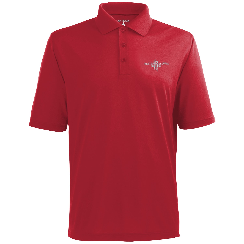 Antigua Houston Rockets Pique Xtra-Lite Polo - Red