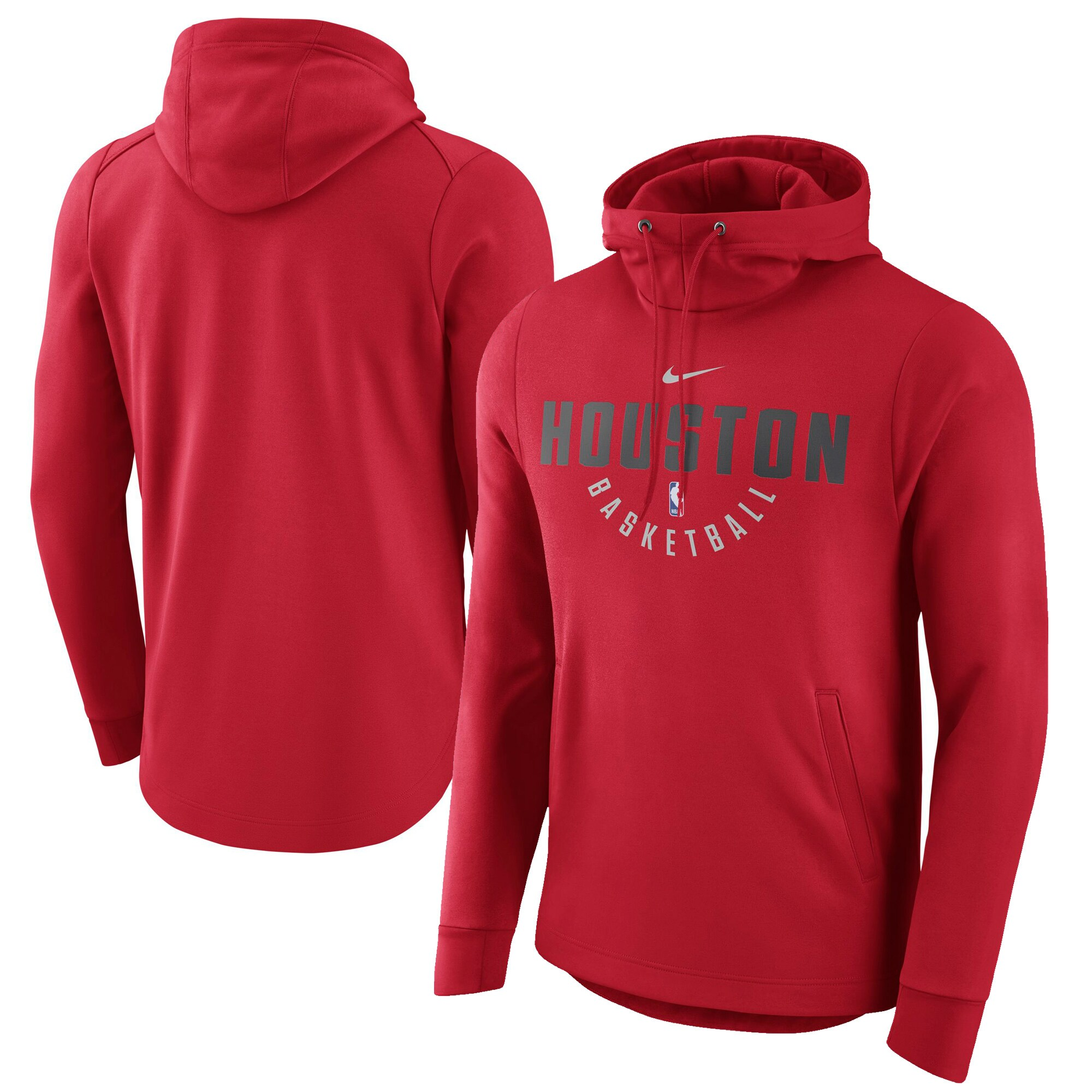 Houston Rockets Nike Practice Pullover Performance Hoodie - Red