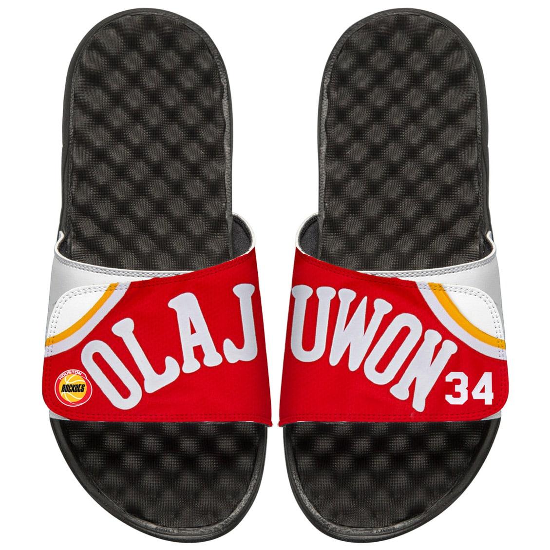 Hakeem Olajuwon Houston Rockets ISlide Retro Jersey Slide Sandals