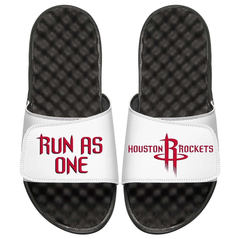 Houston Rockets ISlide Team Slogan Slide Sandals - Black/White