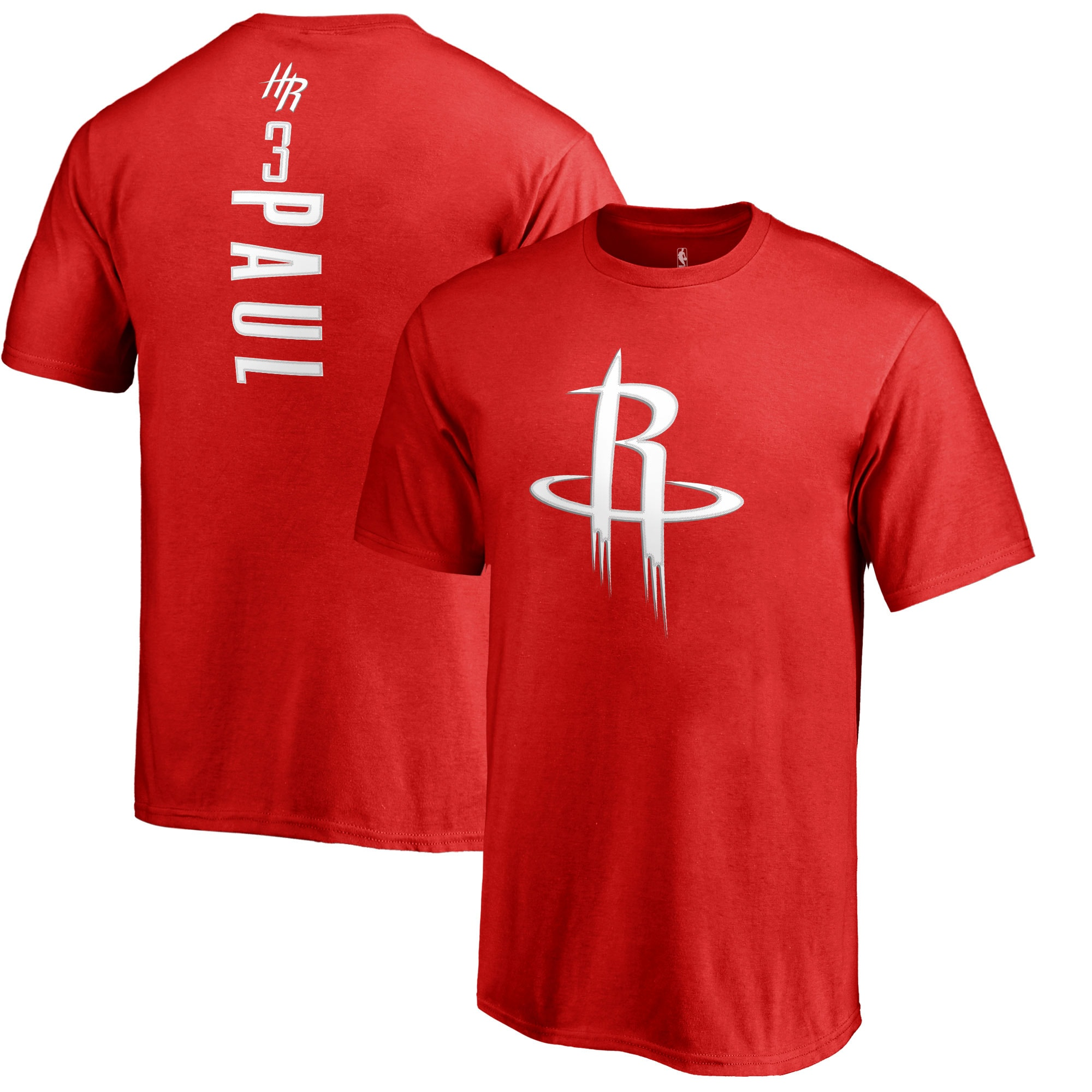 Chris Paul Houston Rockets Fanatics Branded Youth Backer Name & Number T-Shirt - Red