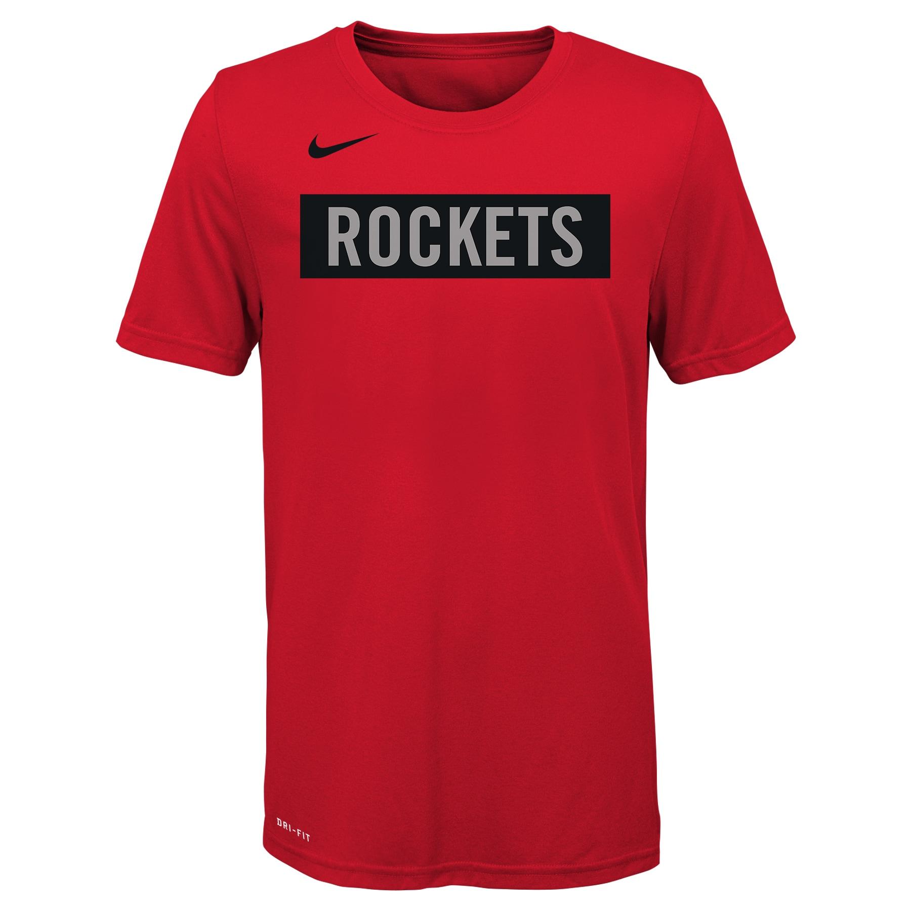 Houston Rockets Nike Youth 2019/20 City Edition Logo T-Shirt - Red