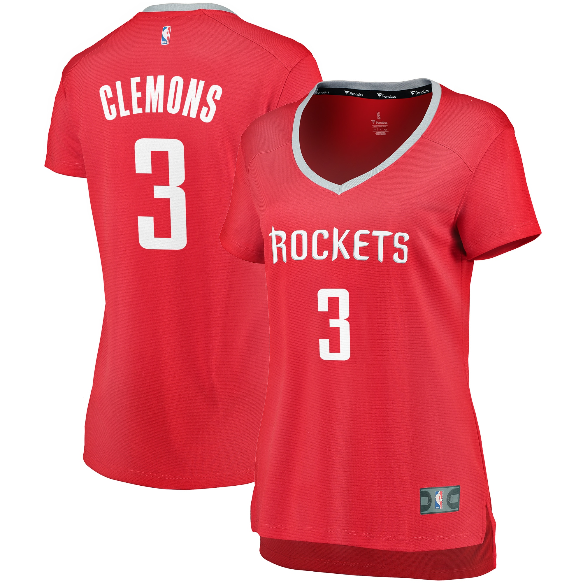Chris Clemons Houston Rockets Fanatics Branded Women's Fast Break Replica Player Jersey - Icon Edition - Red