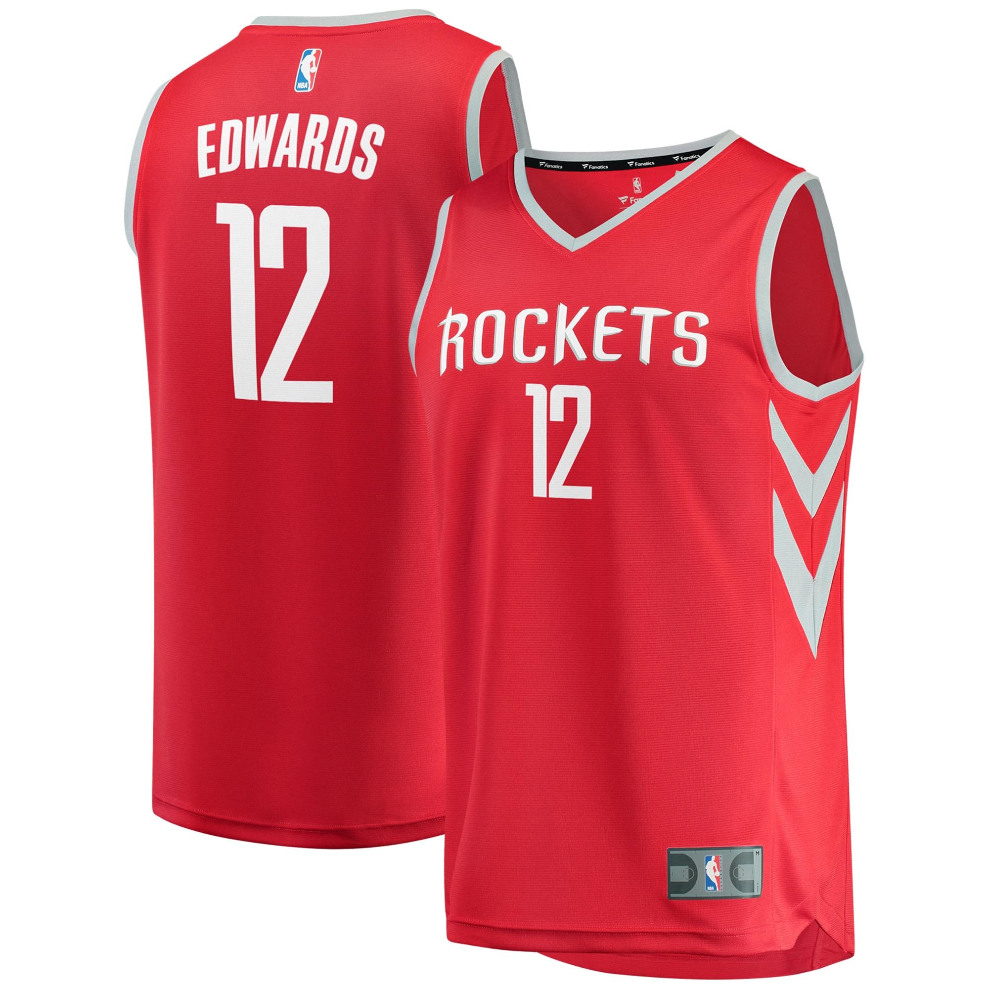 Vincent Edwards Houston Rockets Fanatics Branded Fast Break Replica Jersey - Icon Edition - Red