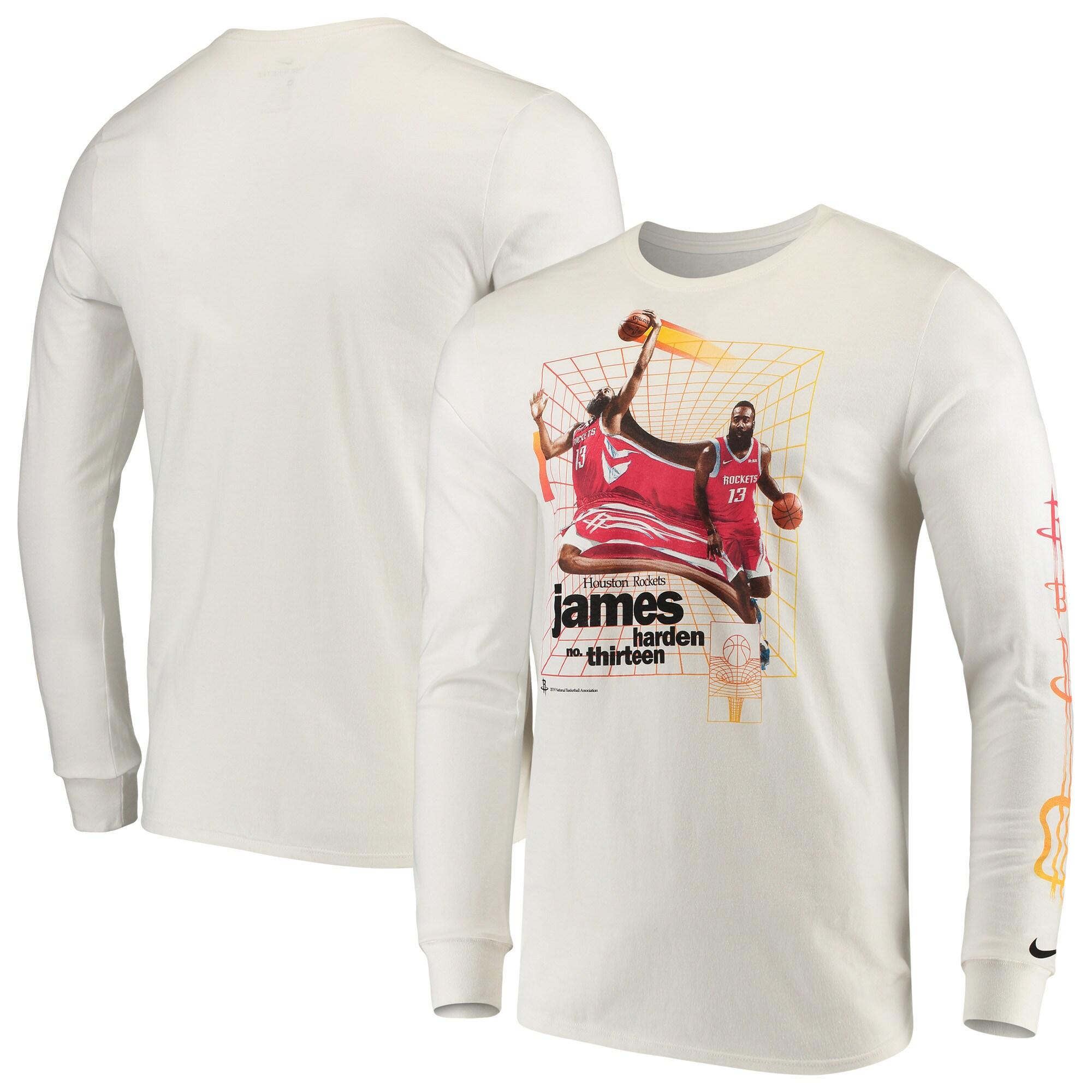 James Harden Houston Rockets Nike Time Warp Long Sleeve T-Shirt - White