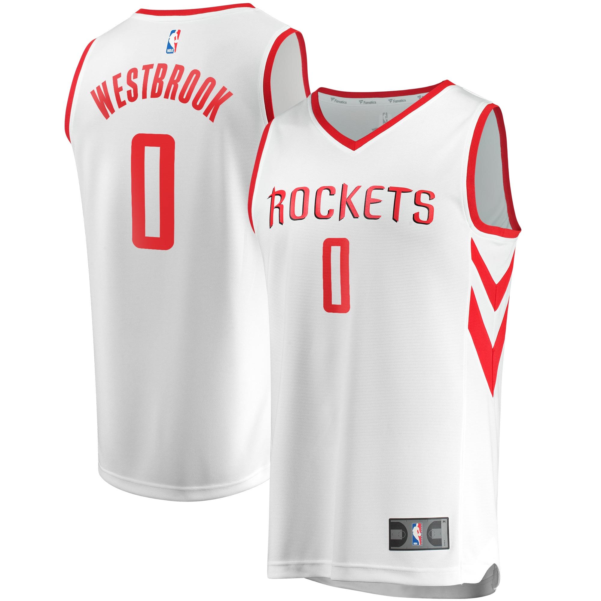 Russell Westbrook Houston Rockets Fanatics Branded Fast Break Replica Jersey White - Association Edition