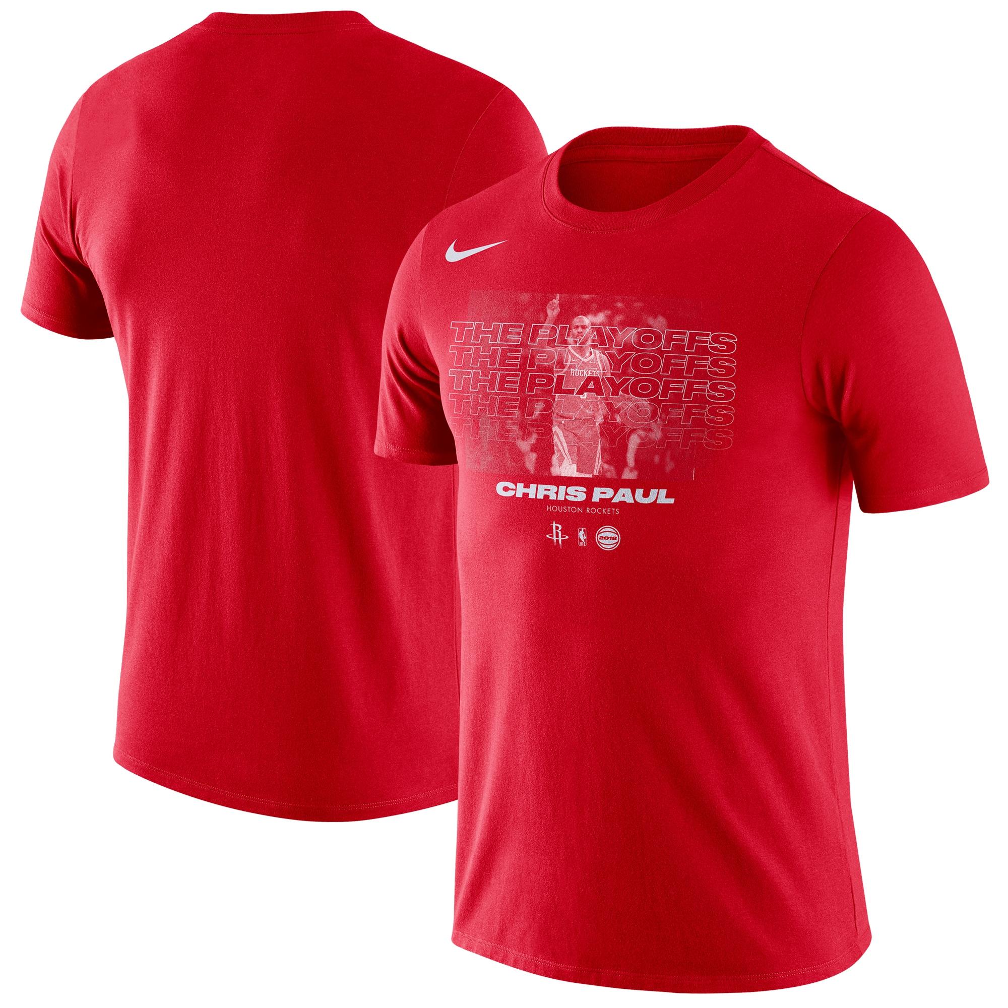 Chris Paul Houston Rockets Nike 2018 NBA Playoffs Player T-Shirt - Red