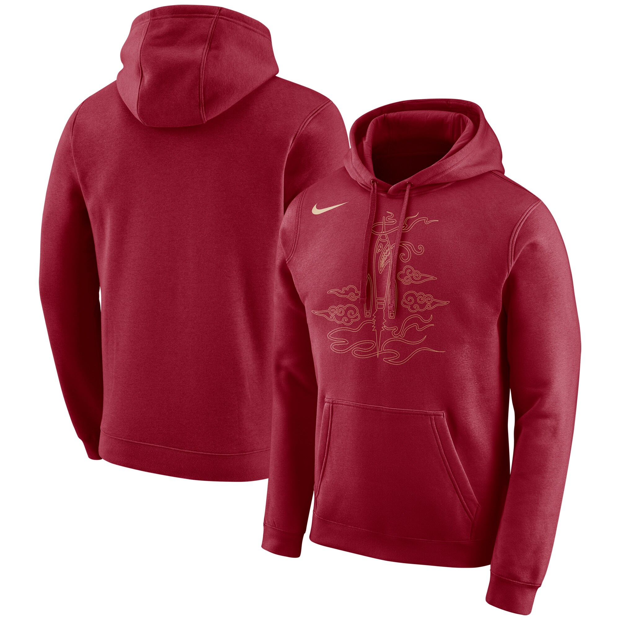 Houston Rockets Nike City Edition Logo Essential Pullover Hoodie - Red
