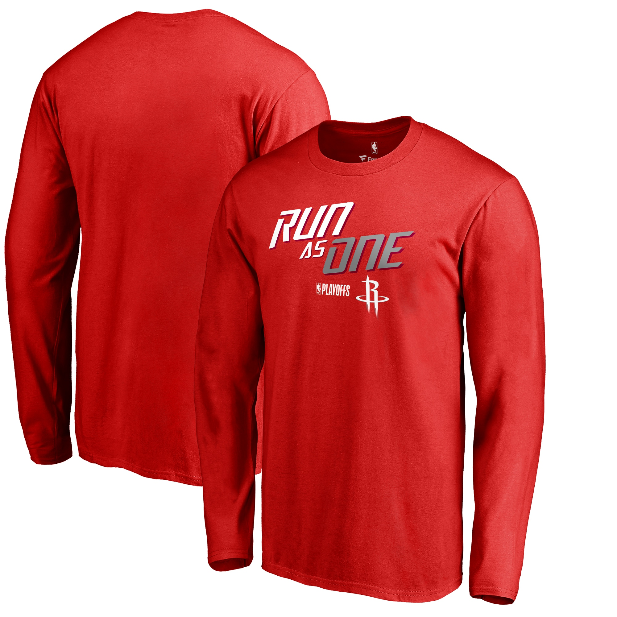 Houston Rockets Fanatics Branded 2018 NBA Playoffs Slogan Long Sleeve T-Shirt - Red