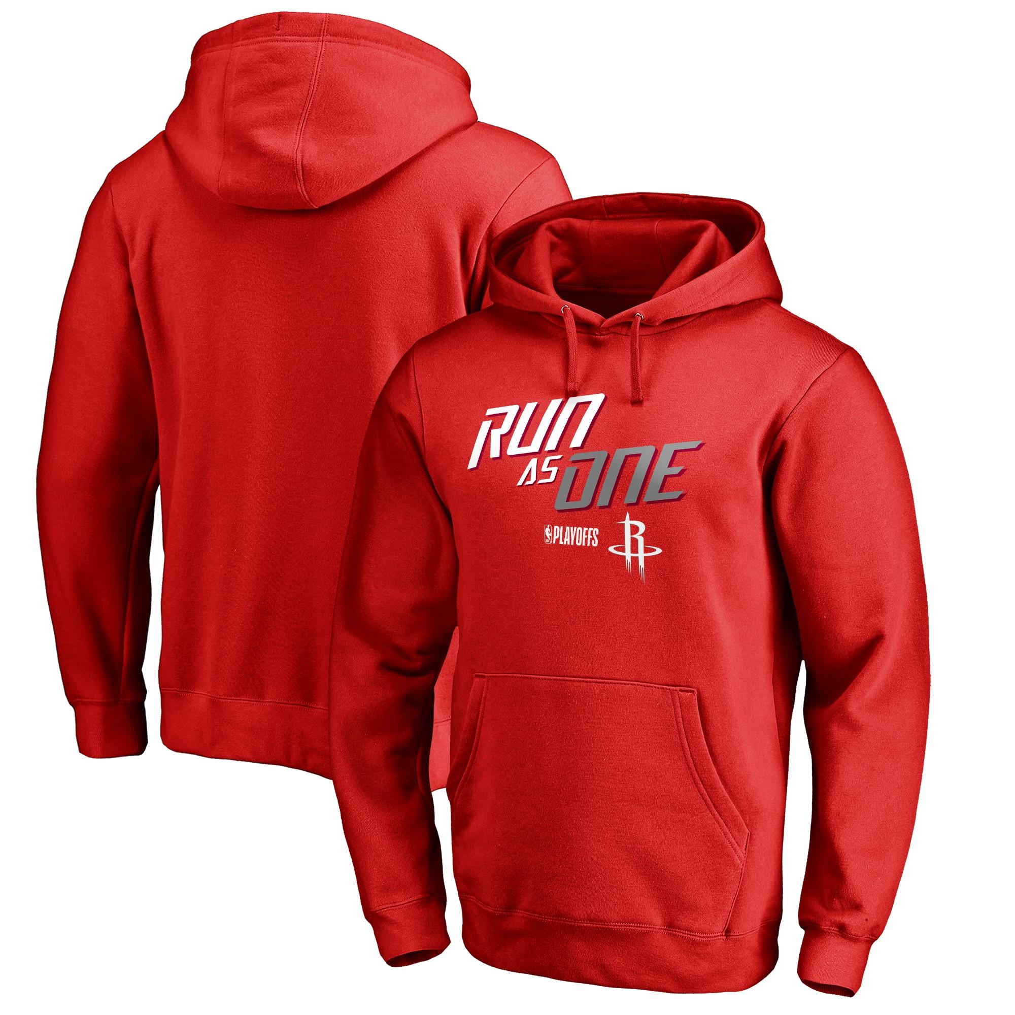 Houston Rockets Fanatics Branded 2018 NBA Playoffs Slogan Pullover Hoodie - Red