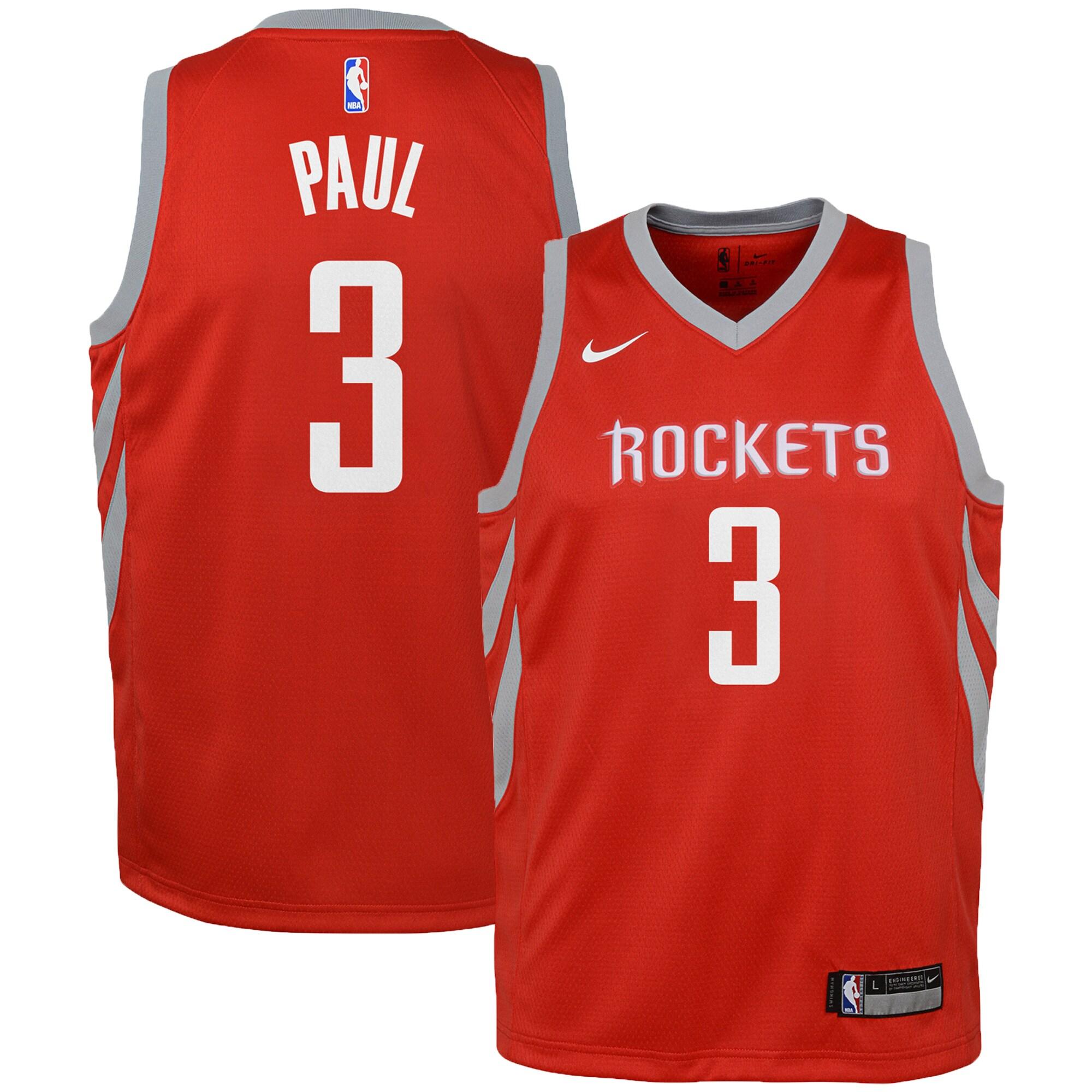 Chris Paul Houston Rockets Nike Youth Swingman Jersey Red - Icon Edition