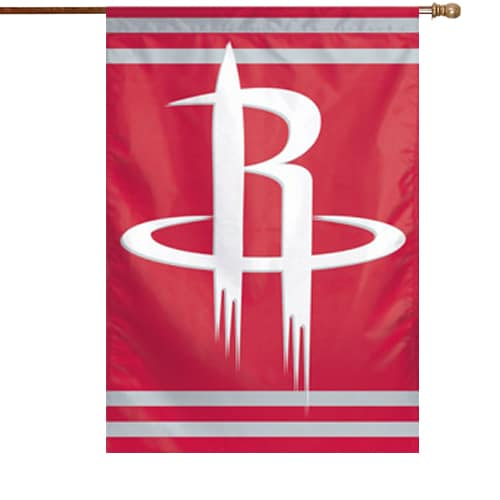 """Houston Rockets WinCraft 28"""" x 40"""" Two-Sided Vertical Flag"""