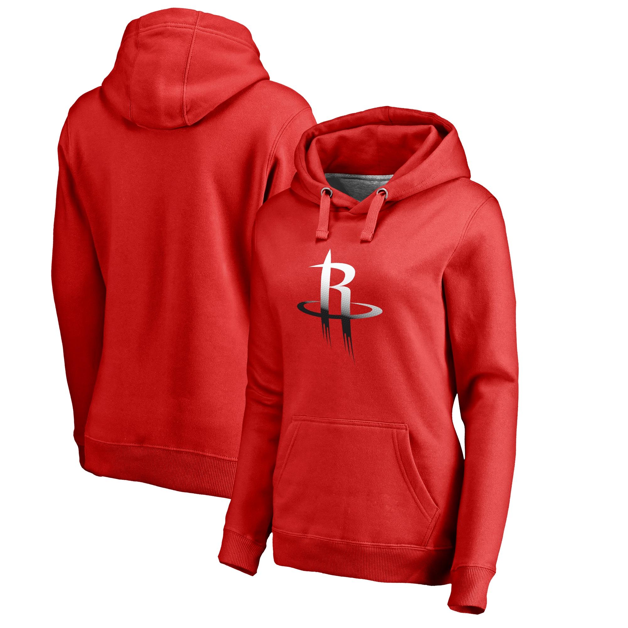 Houston Rockets Fanatics Branded Women's Plus Sizes Gradient Logo Pullover Hoodie - Red