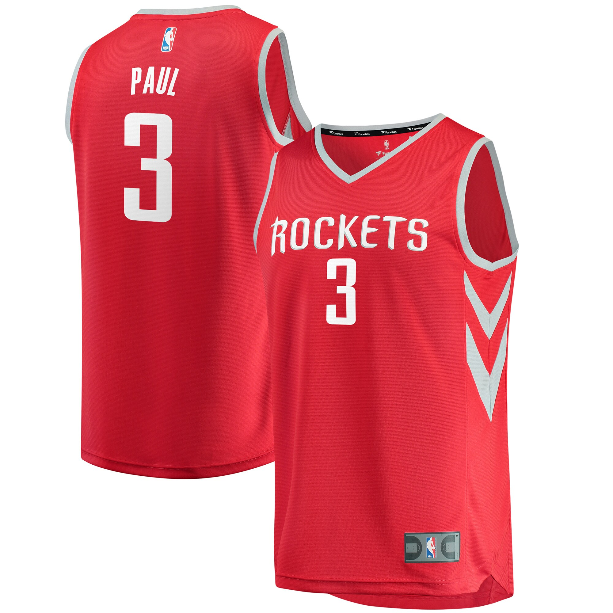 Chris Paul Houston Rockets Fanatics Branded Fast Break Replica Jersey Red - Icon Edition