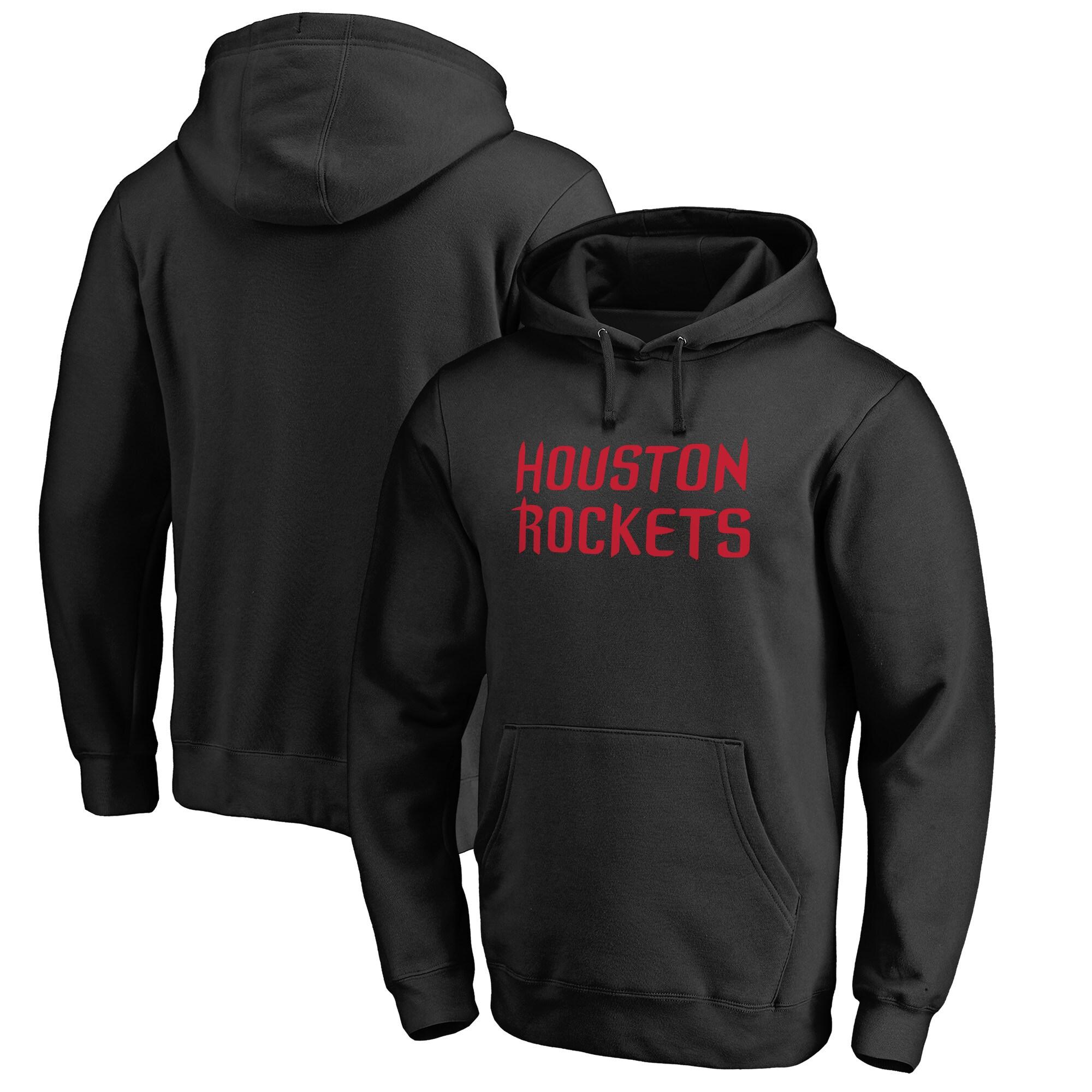 Houston Rockets Fanatics Branded Alternate Logo Pullover Hoodie - Black